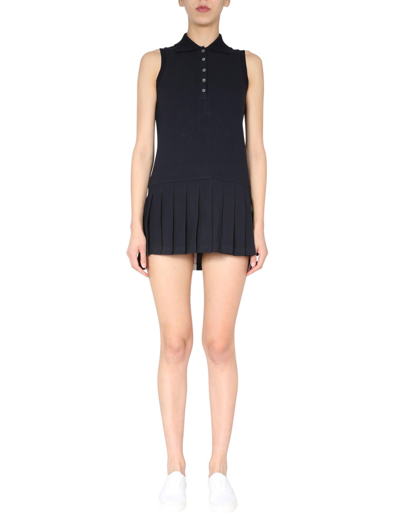 Thom Browne Mini dresses COTTON PIQUÉ POLO DRESS