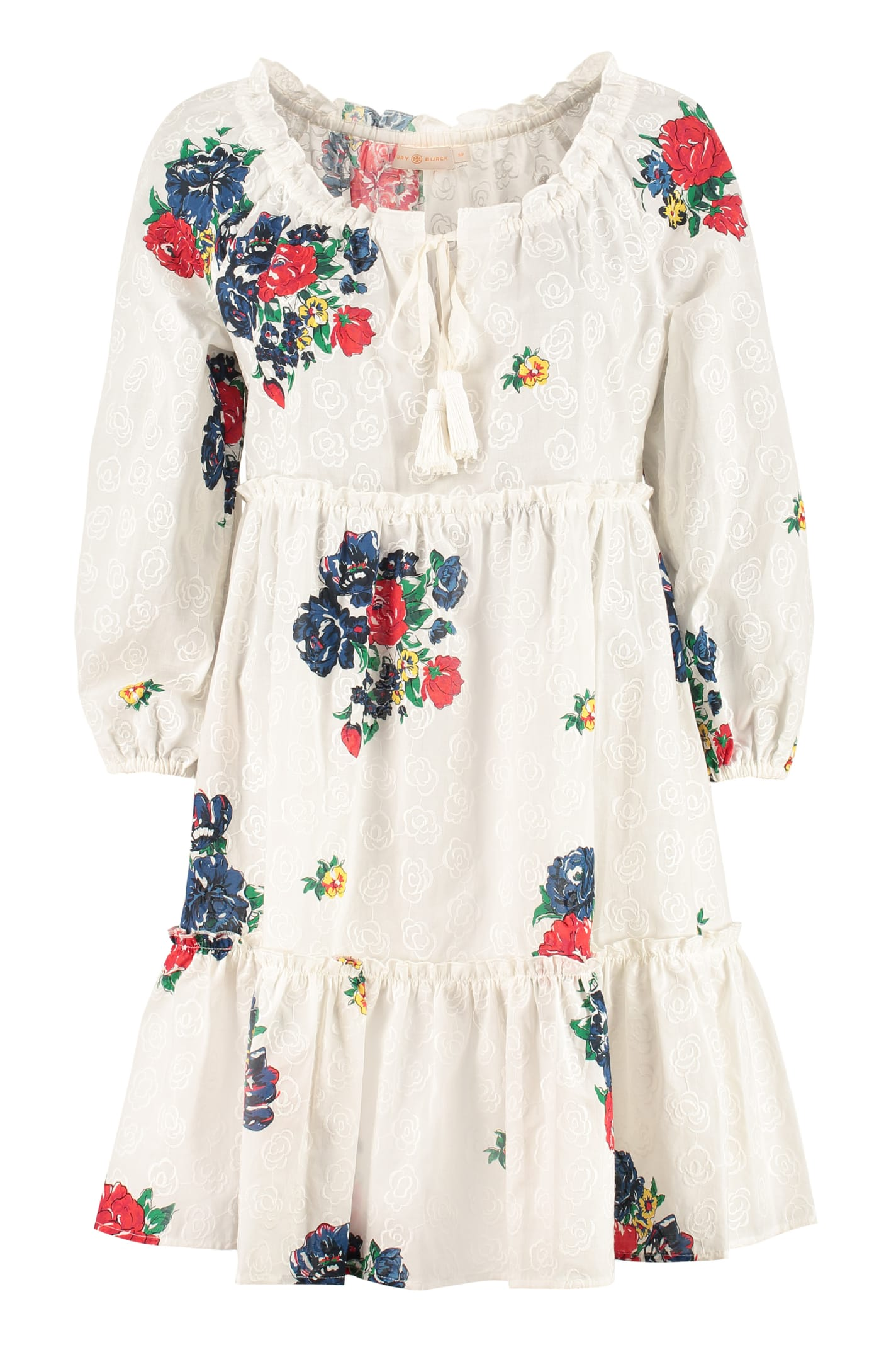 Buy Tory Burch Floral-print Cotton Dress online, shop Tory Burch with free shipping