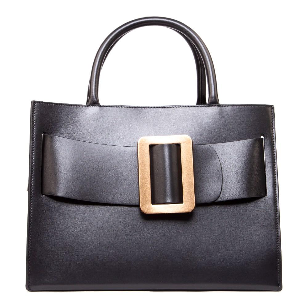 Bobby 32 Black Smooth Leather Handbag