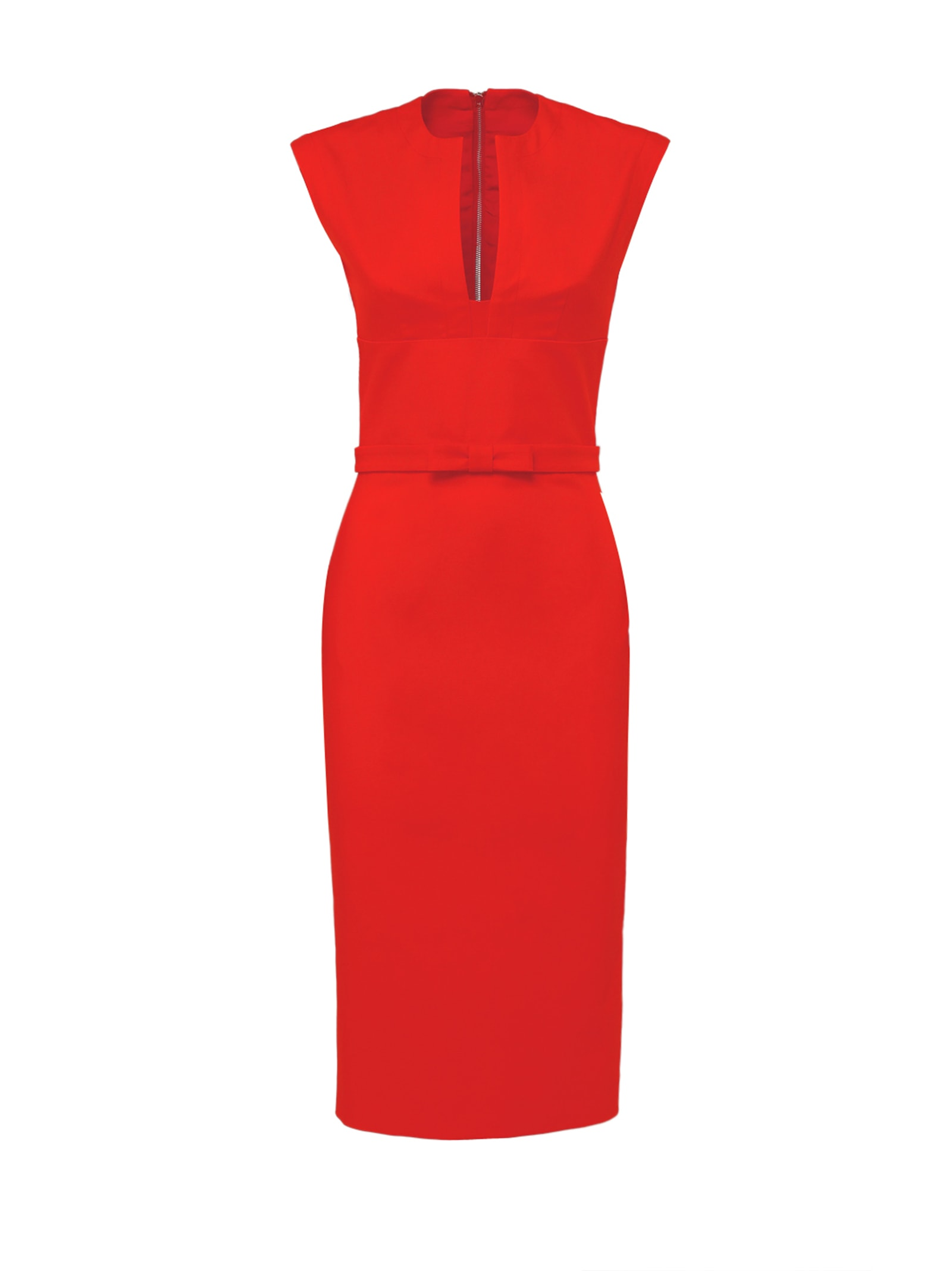 Red Pussy-bow Cocktail Dress