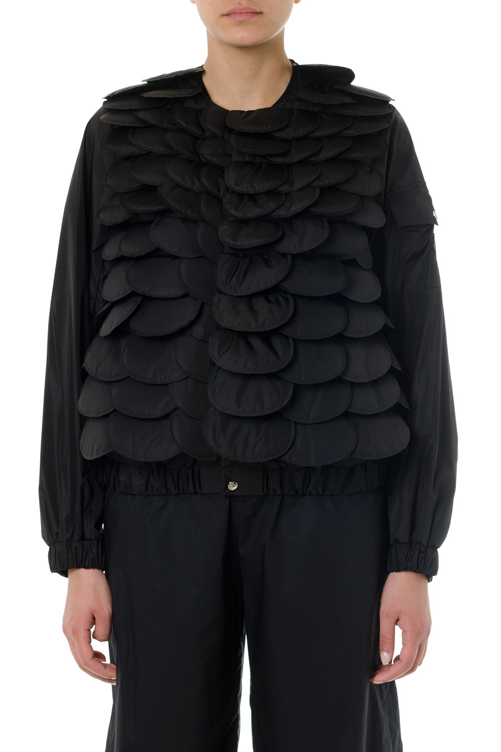 Moncler Genius Black Padded Scallop Jacket