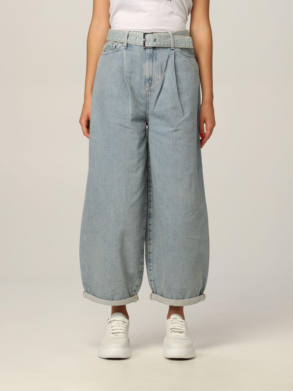 Armani Exchange Jeans Used Denim With High Waist Belt