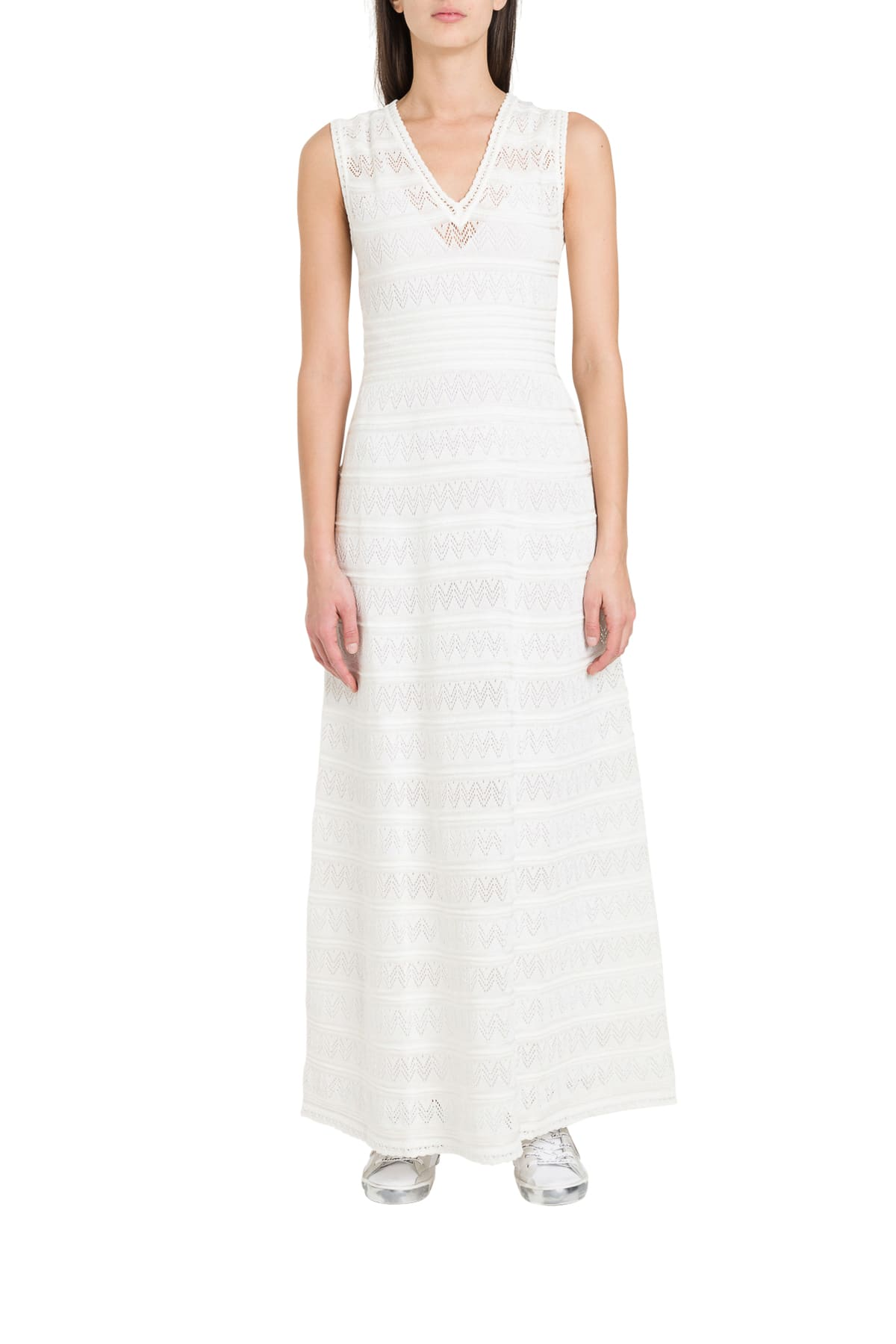 Buy M Missoni Maxi Dress In Openwork Knit online, shop M Missoni with free shipping