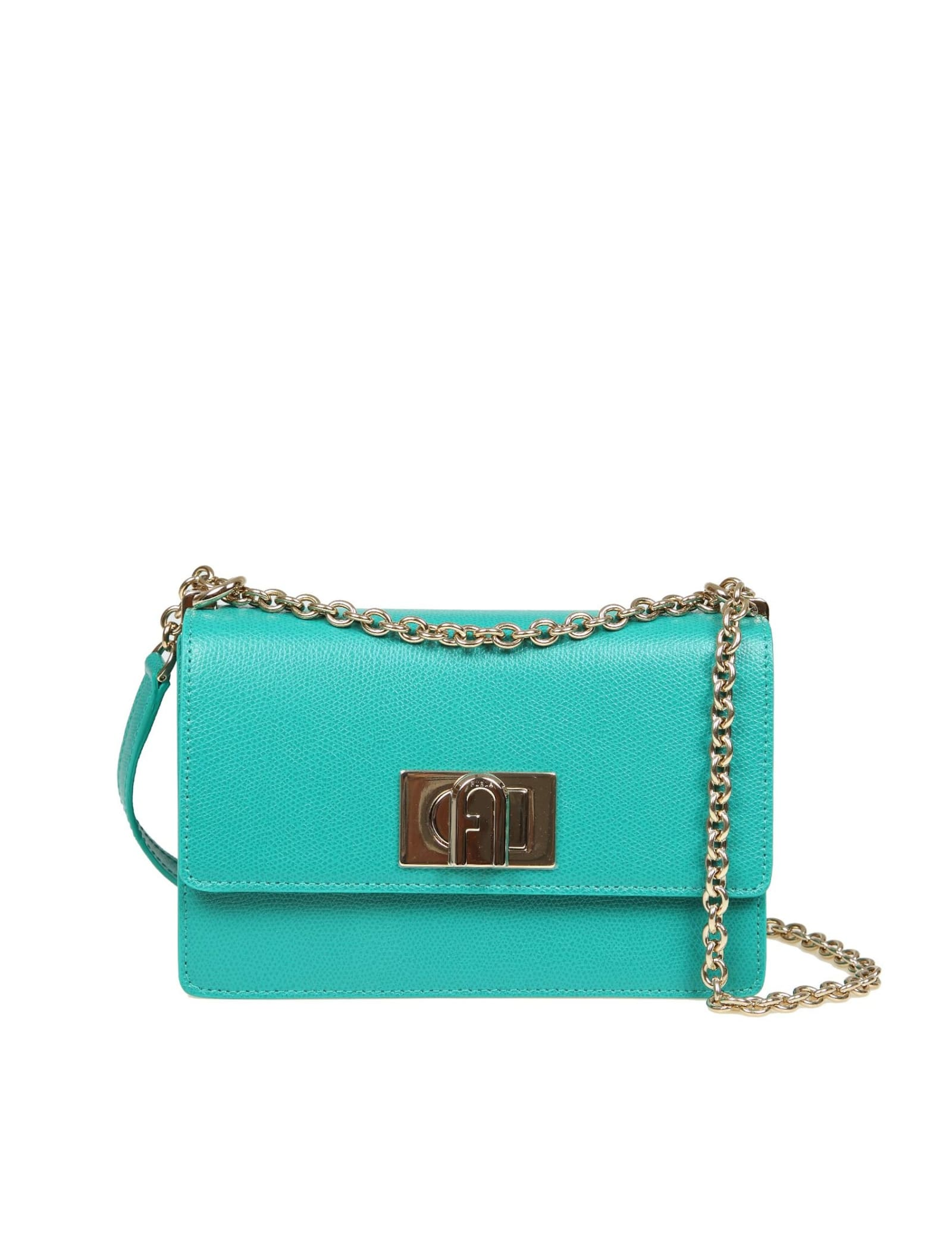 Furla 1927 Emerald Green Mini Crop Bag