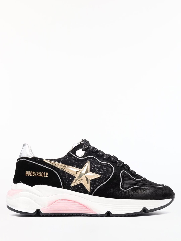 Golden Goose Running Sole Sneakers In Black