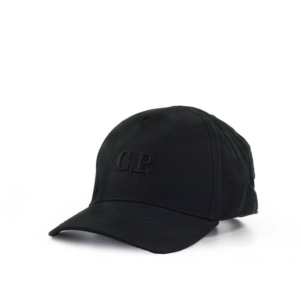 C.p. Company C.P. COMPANY BLACK BASEBALL CAP WITH LOGO