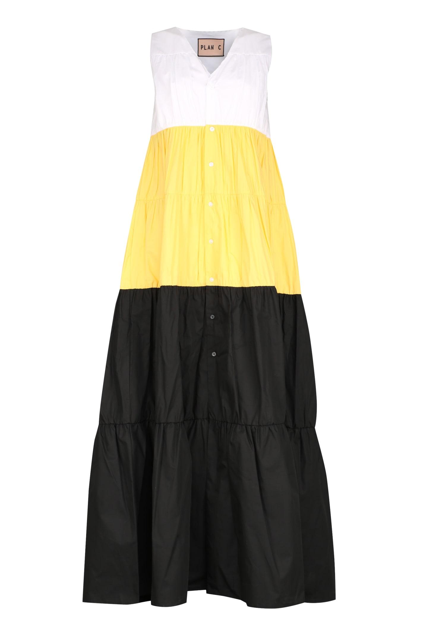 Plan C Cotton Long Dress