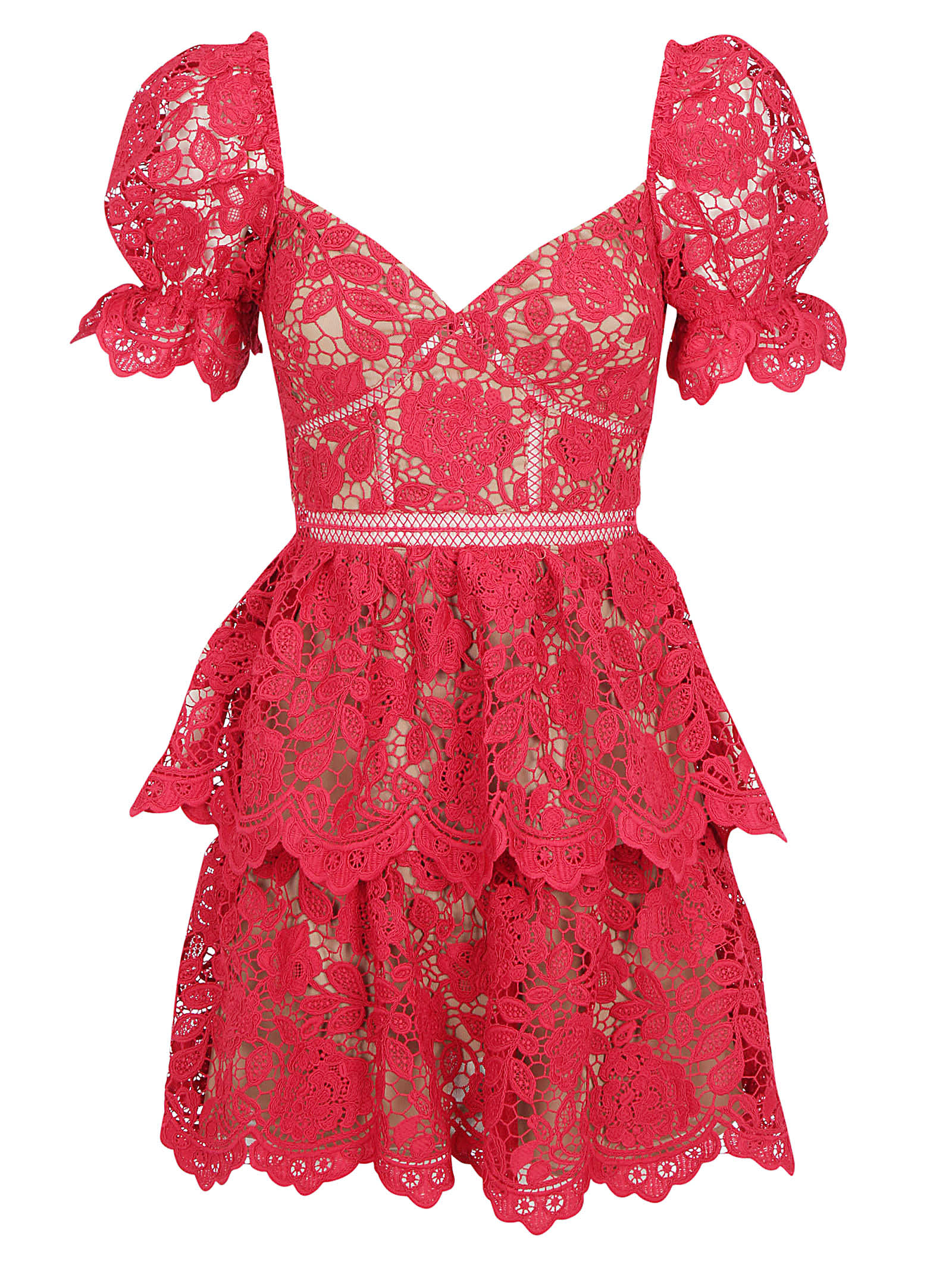 Buy Flower Mini Dress Self-portrait online, shop self-portrait with free shipping