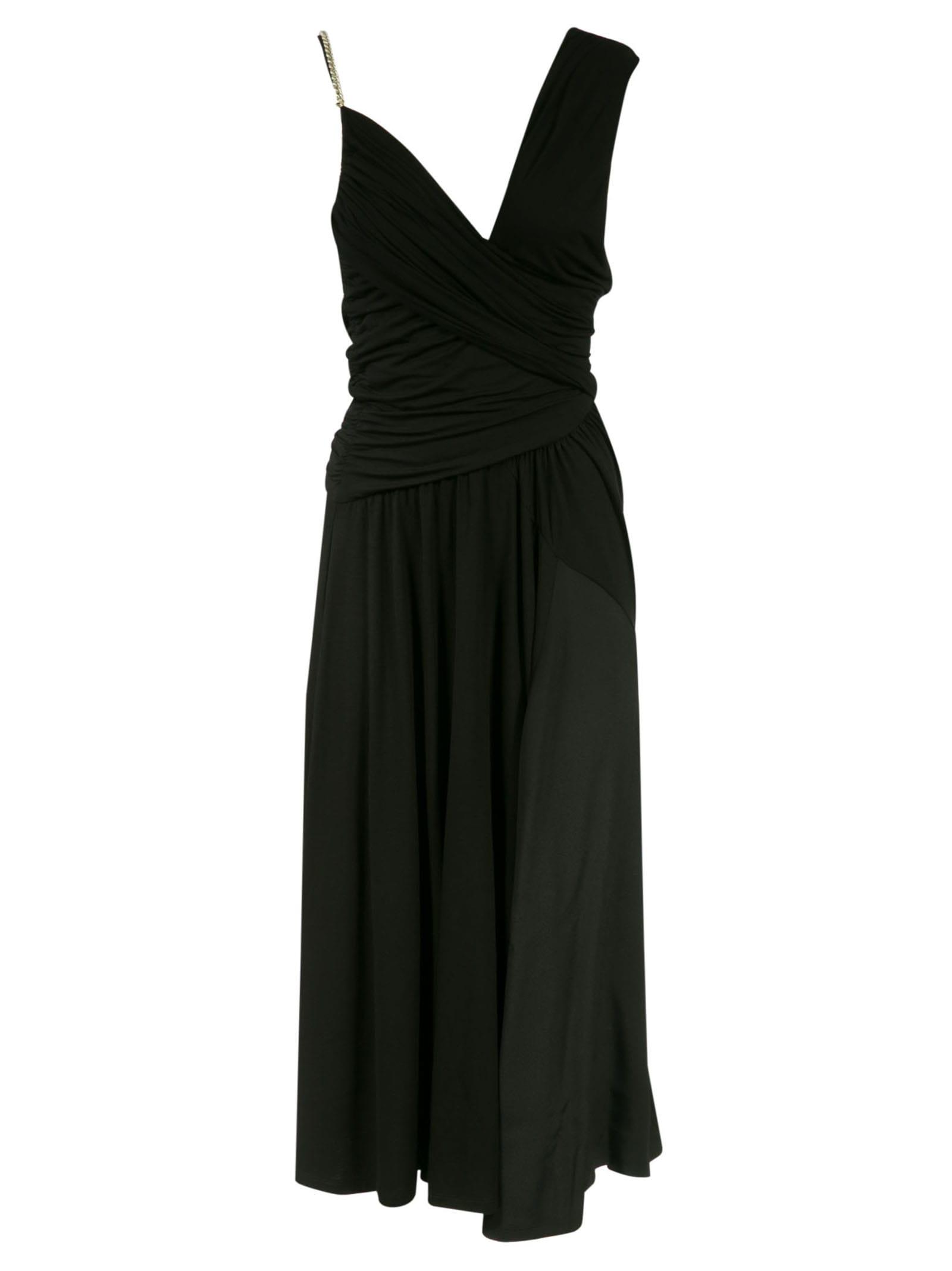 N°21 V-NECK WRAP LONG DRESS
