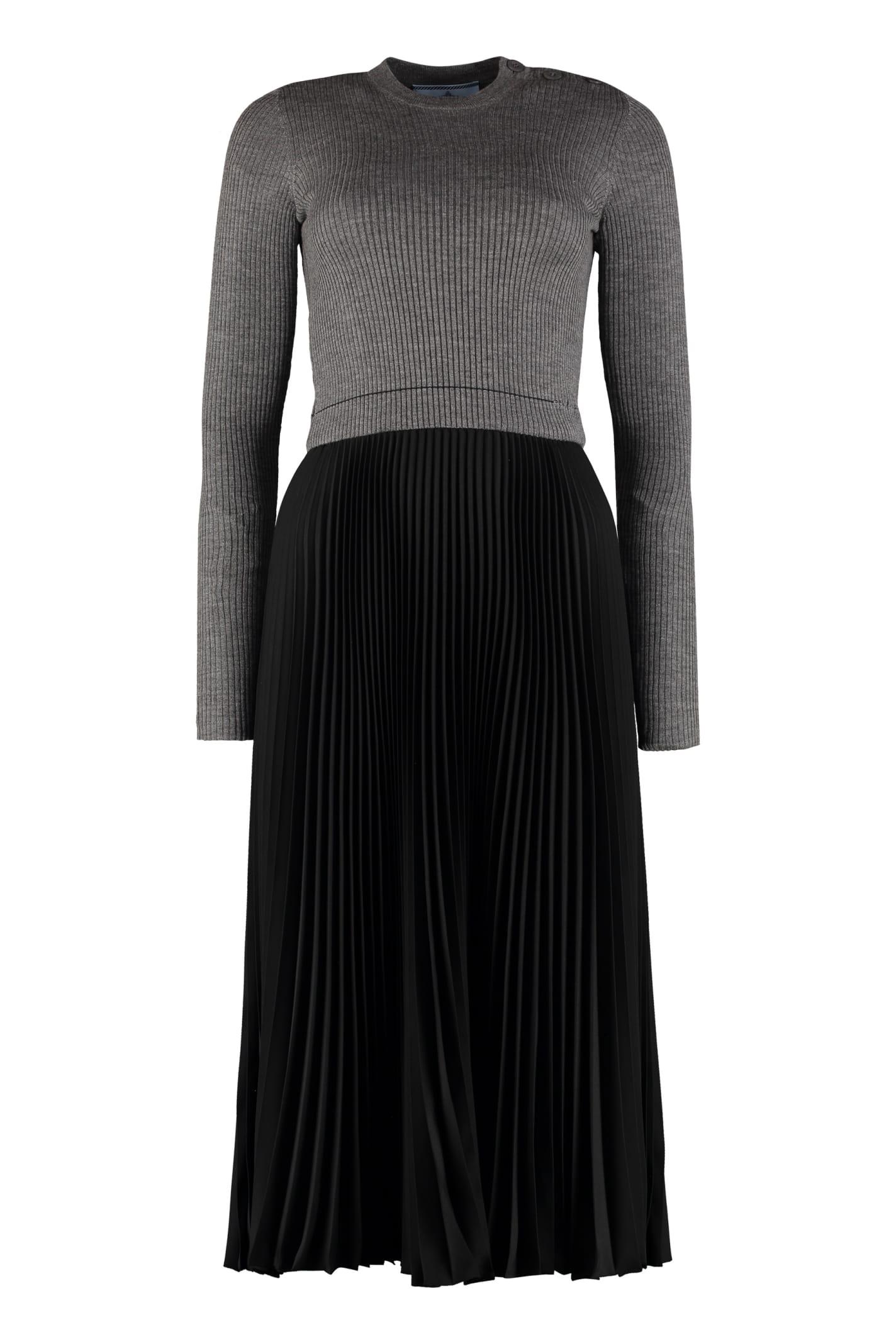 Prada Pleated Skirt Dress