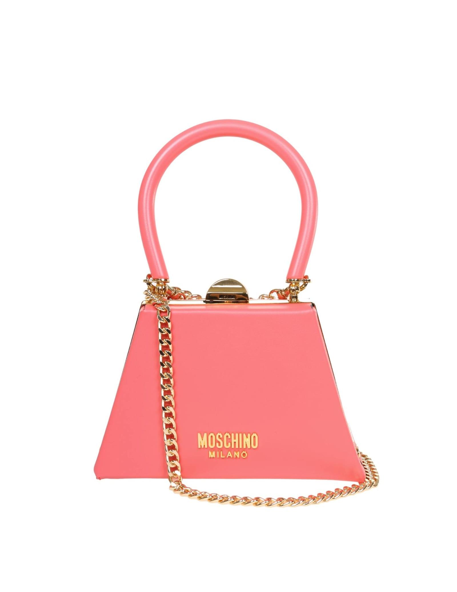 Moschino Handbags MINI HANDBAG IN CALFSKIN