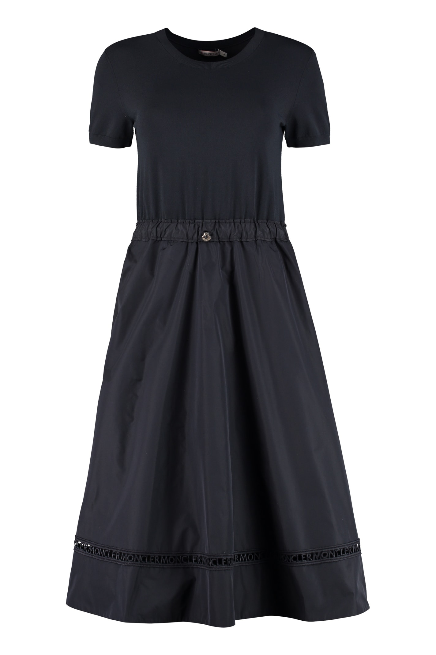 Buy Flared Skirt Knit Dress online, shop Moncler with free shipping