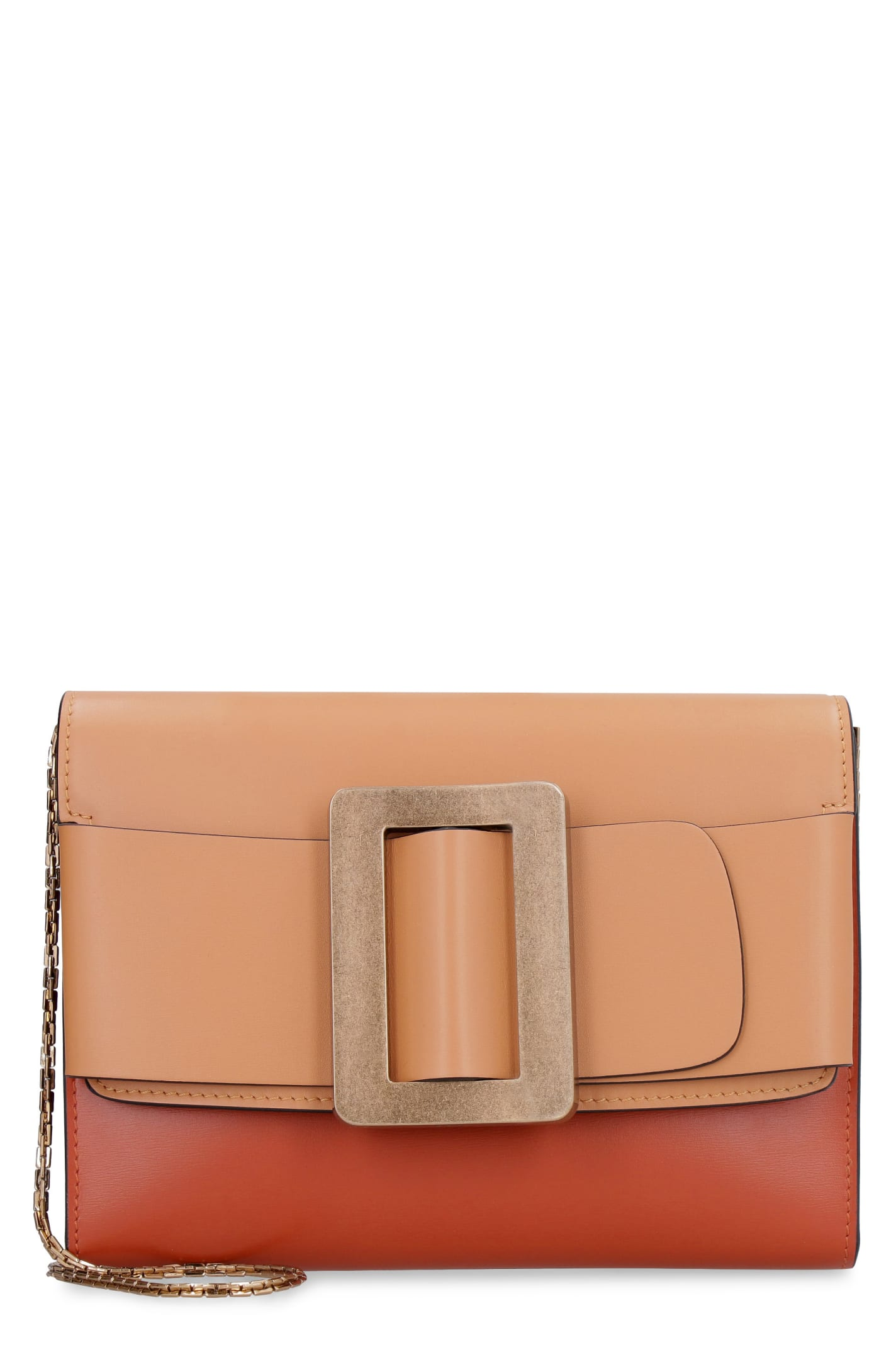 Buckle Travel Case Leather Clutch With Strap