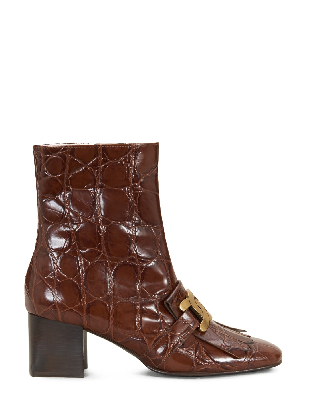 Buy Tods Kate Boot Brown online, shop Tods shoes with free shipping