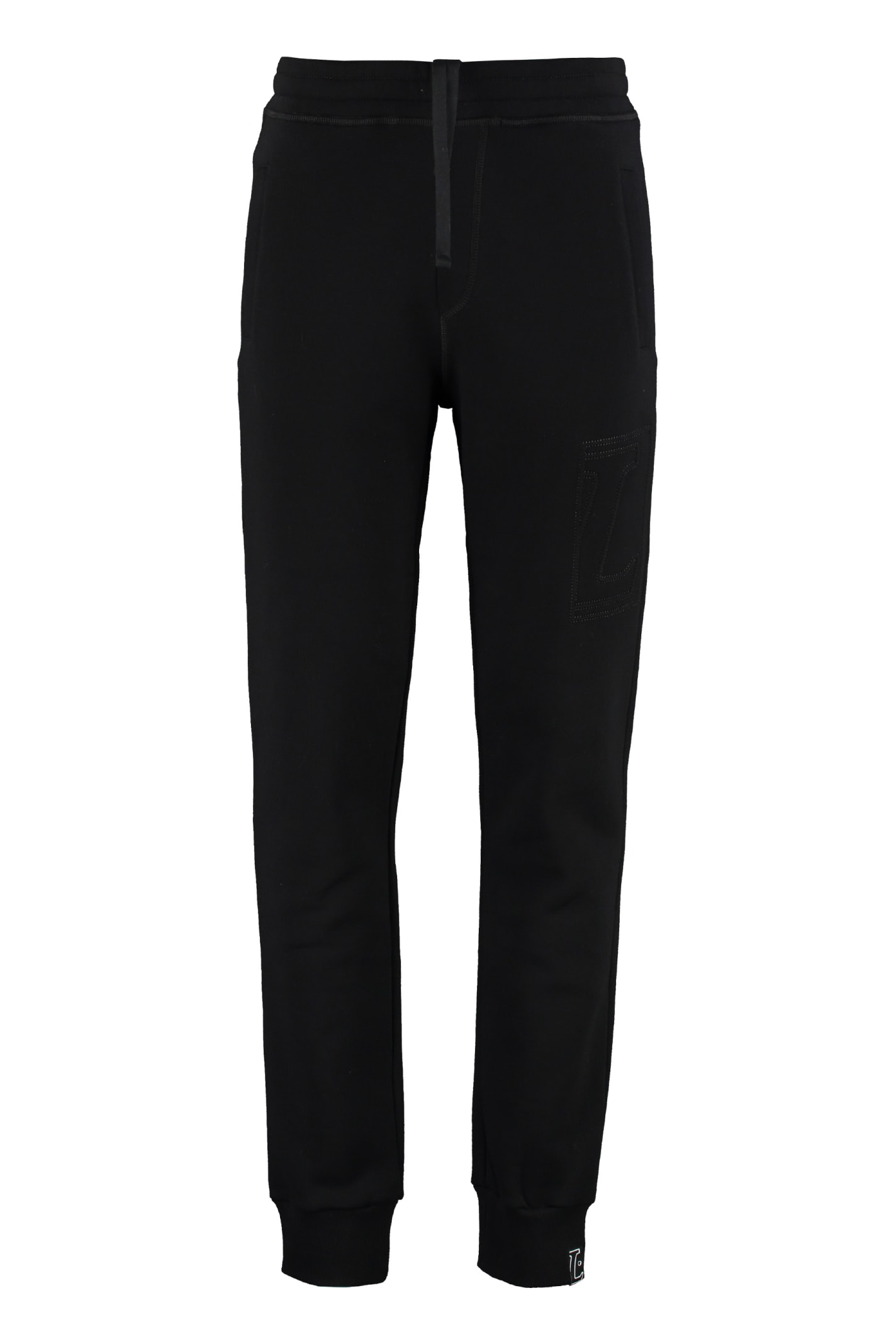 Lanvin Cotton Sweatpants With Embroidery