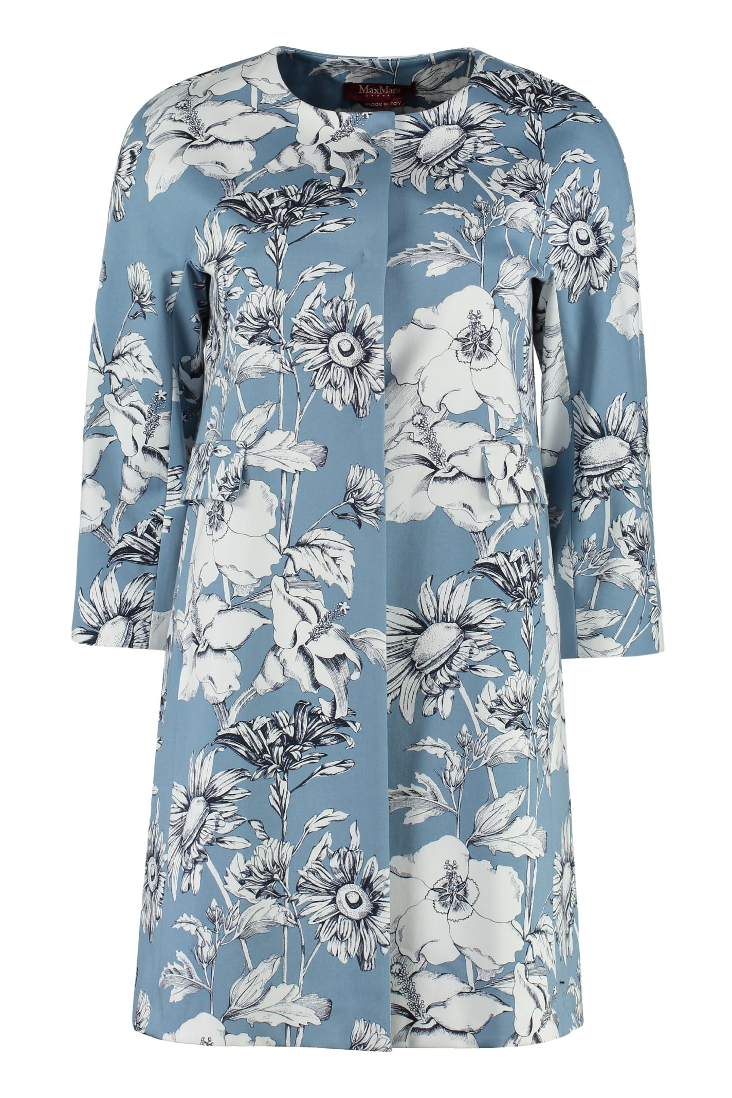 Max Mara Studio Zampata Printed Cotton Coat