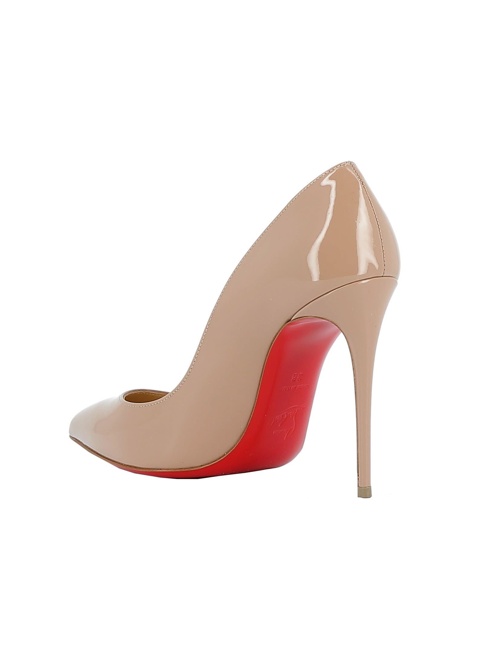 newest 219f3 98178 Best price on the market at italist | Christian Louboutin Christian  Louboutin Nude Patent Leather Pumps