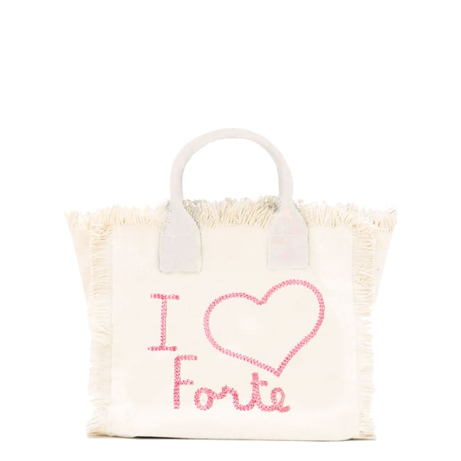 I Love Forte Embroidered Canvas Bag