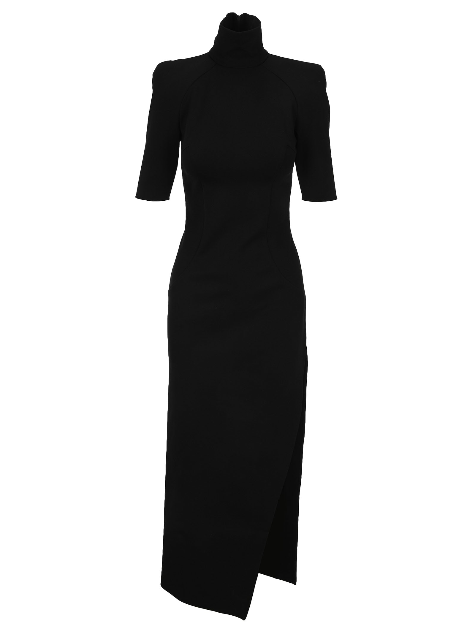 Attico ATTICO HIGH NECK EVA LONG DRESS