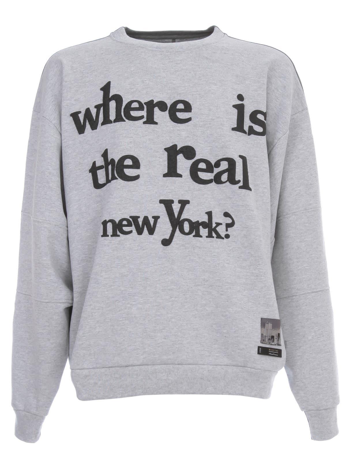 Buscemi Mismatch Crewneck Printed Sweatshirt