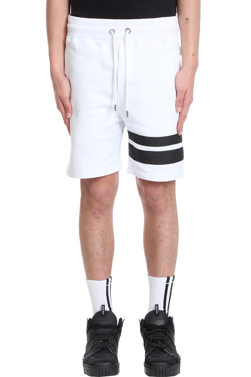 Gcds SHORTS IN WHITE COTTON