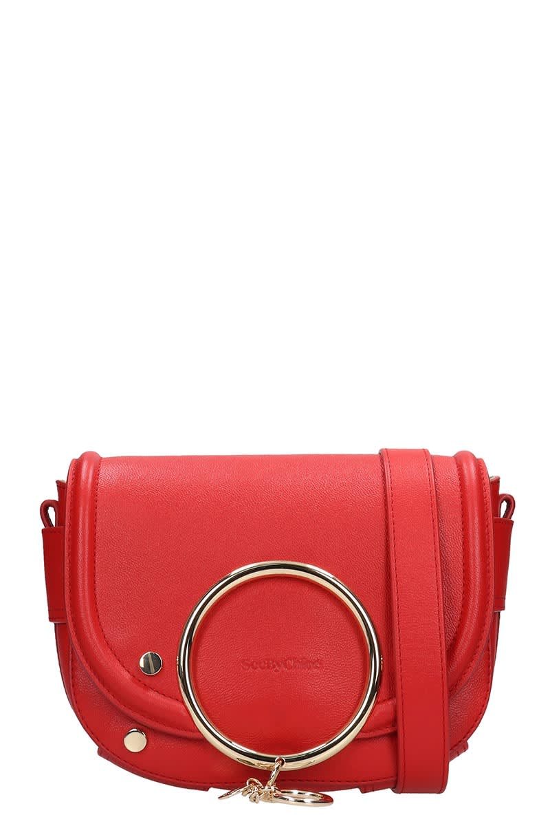 See by Chloé Mara Shoulder Bag In Red Leather