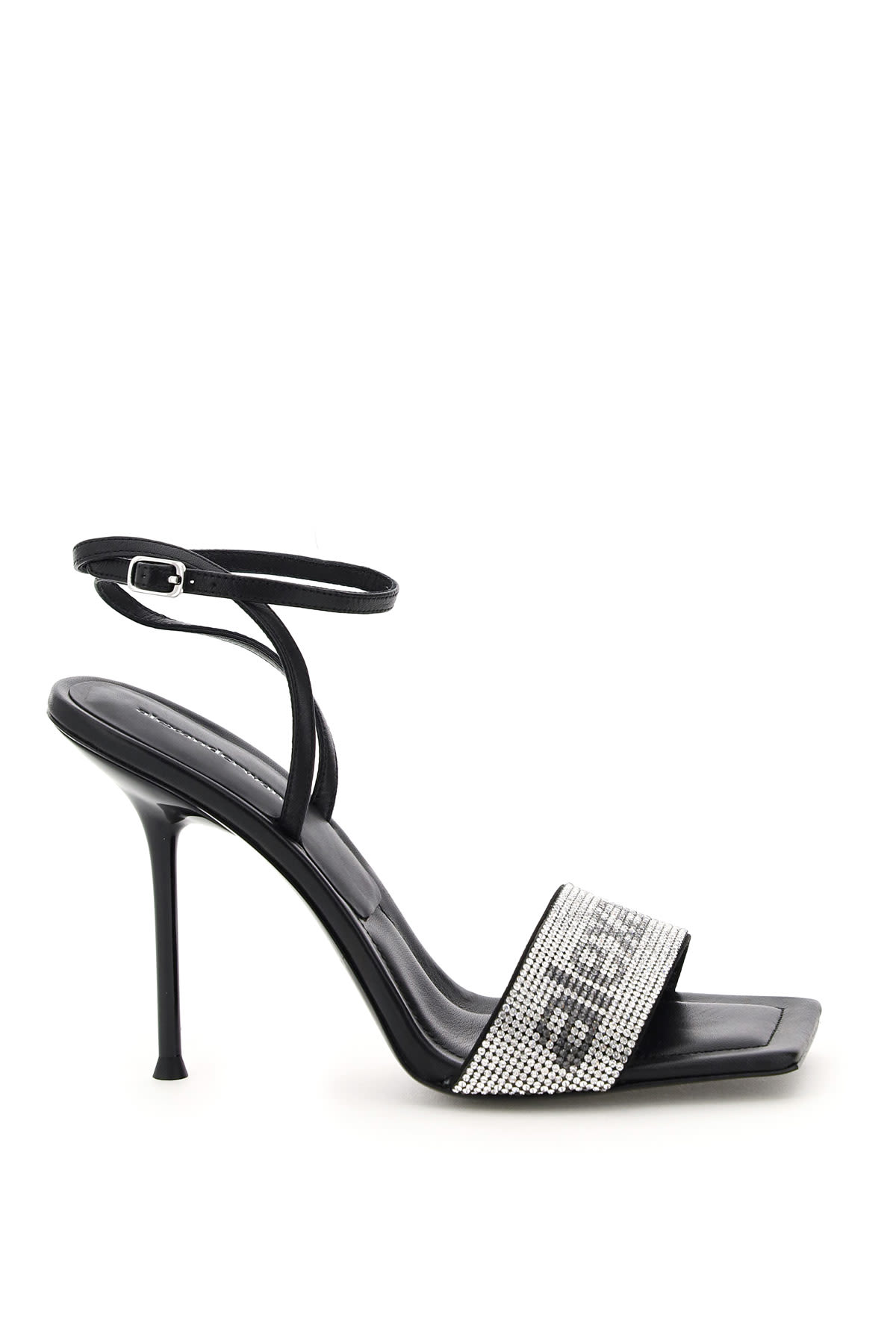 Alexander Wang Shoes JULIE SANDALS WITH CRYSTAL LOGO