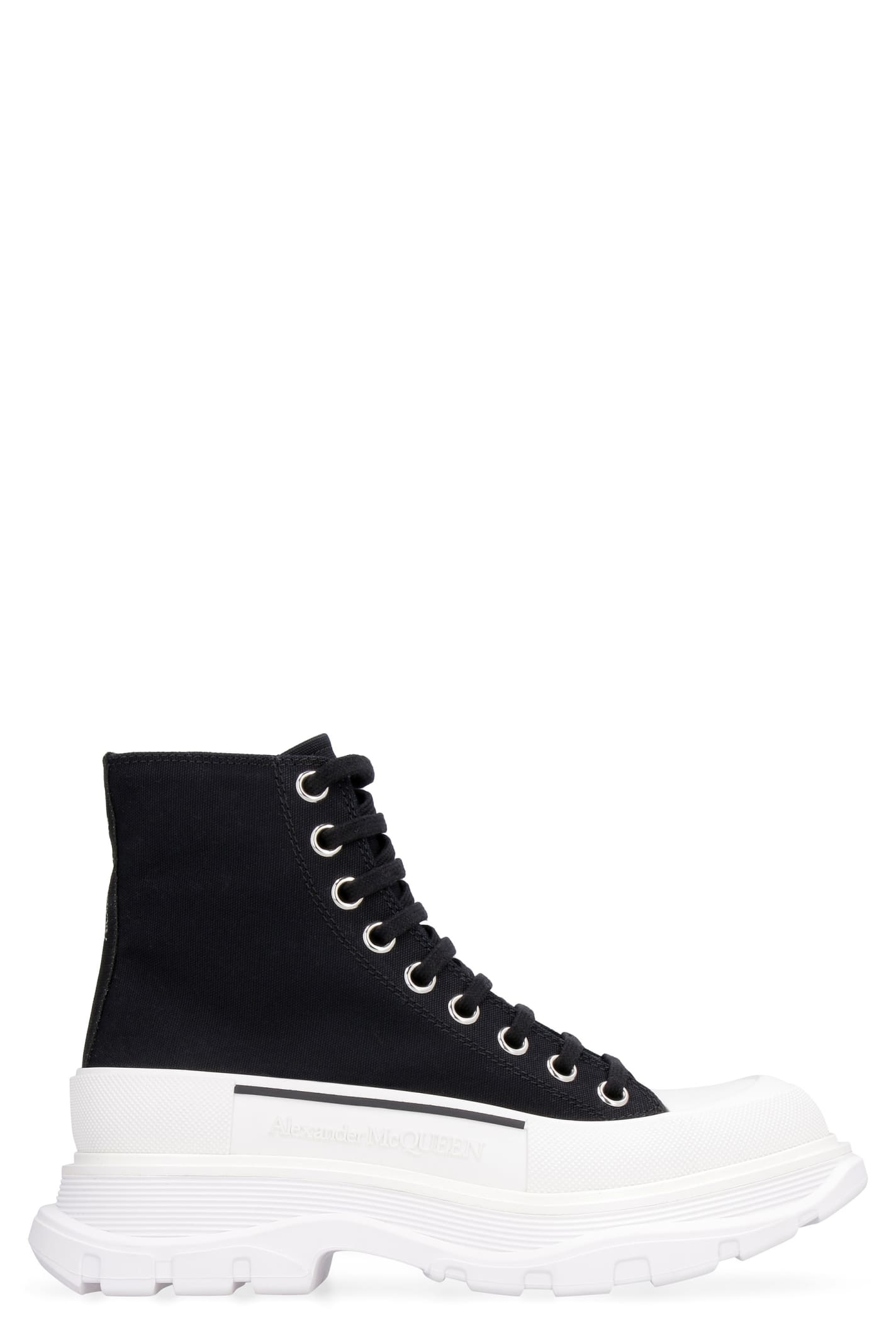 Alexander McQueen Tread Slick Lace-up Ankle Boots