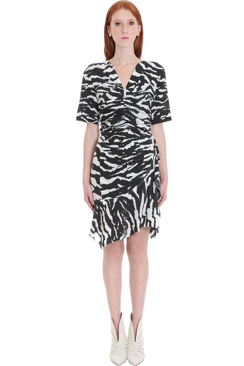 Buy Isabel Marant Arodie Dress In Black Silk online, shop Isabel Marant with free shipping