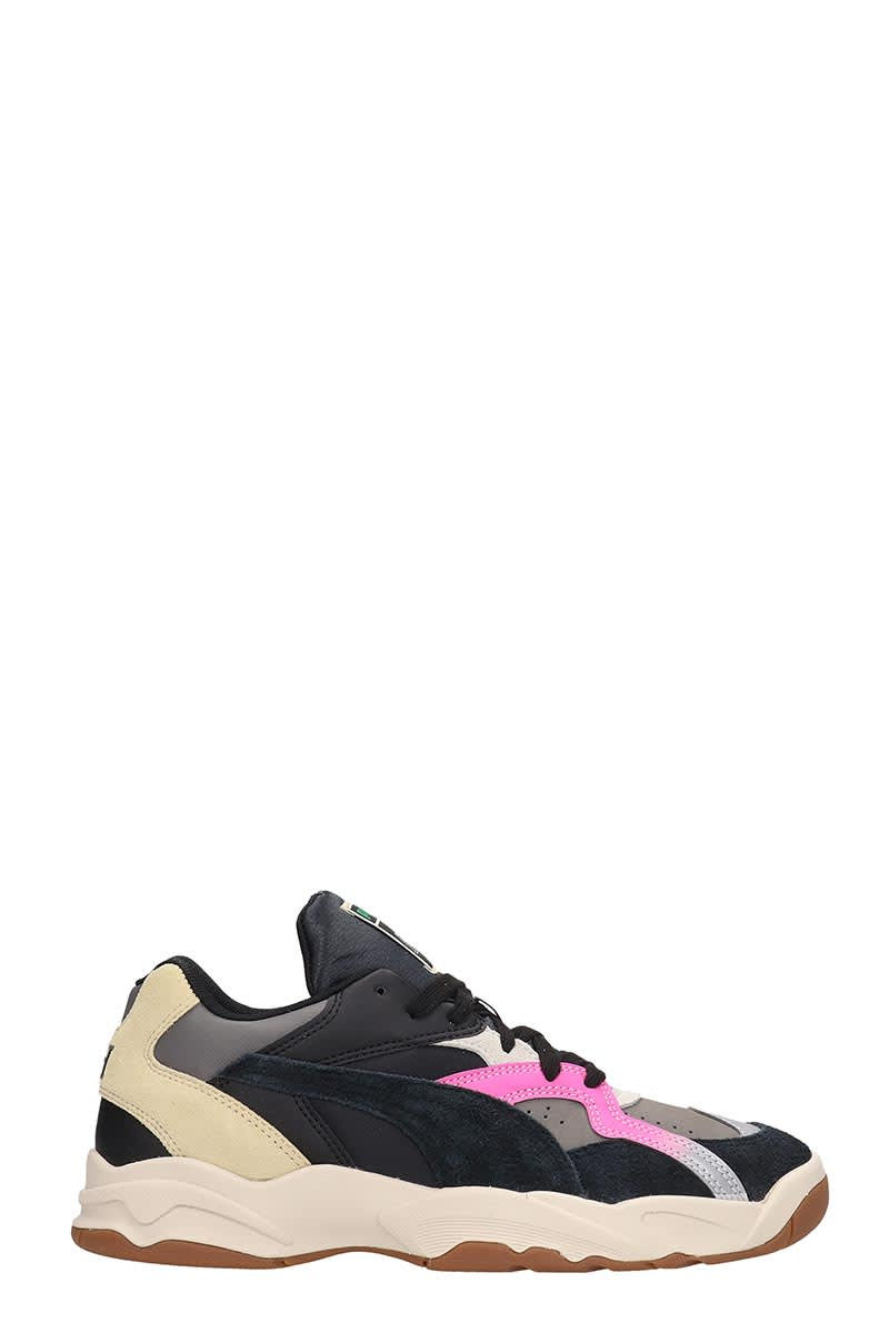 Puma Performer Sneakers In Black Suede And Leather