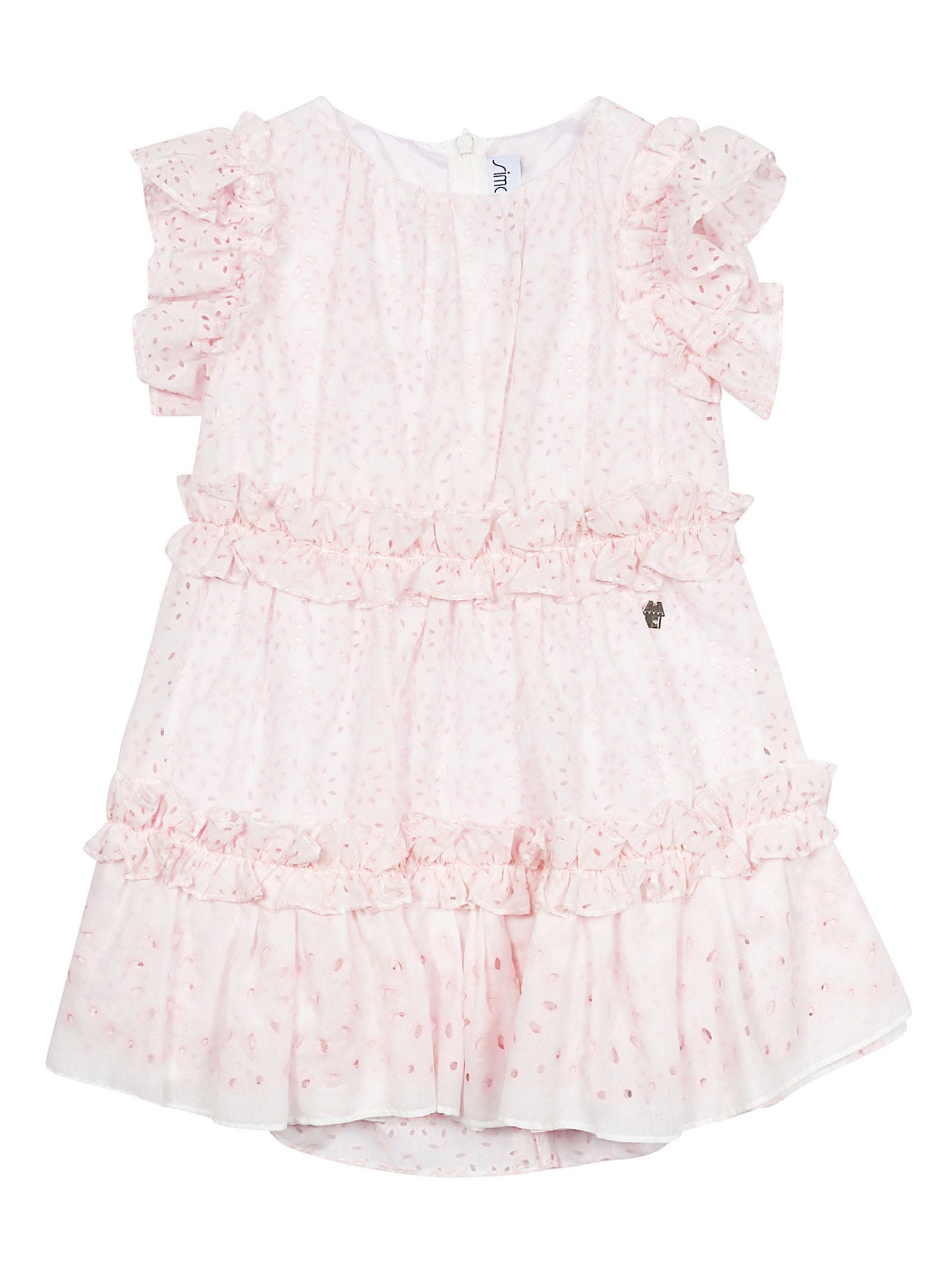 Simonetta Ruffled Trim Dress