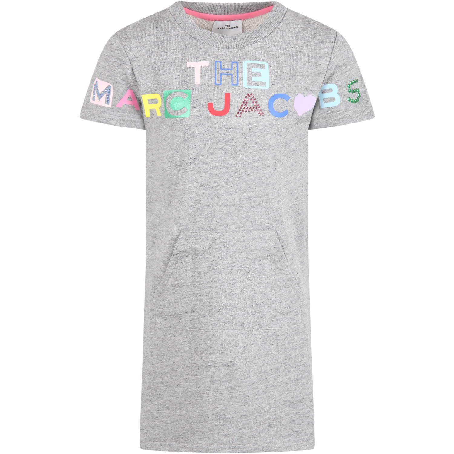 Gray Dress For Girl With Logo