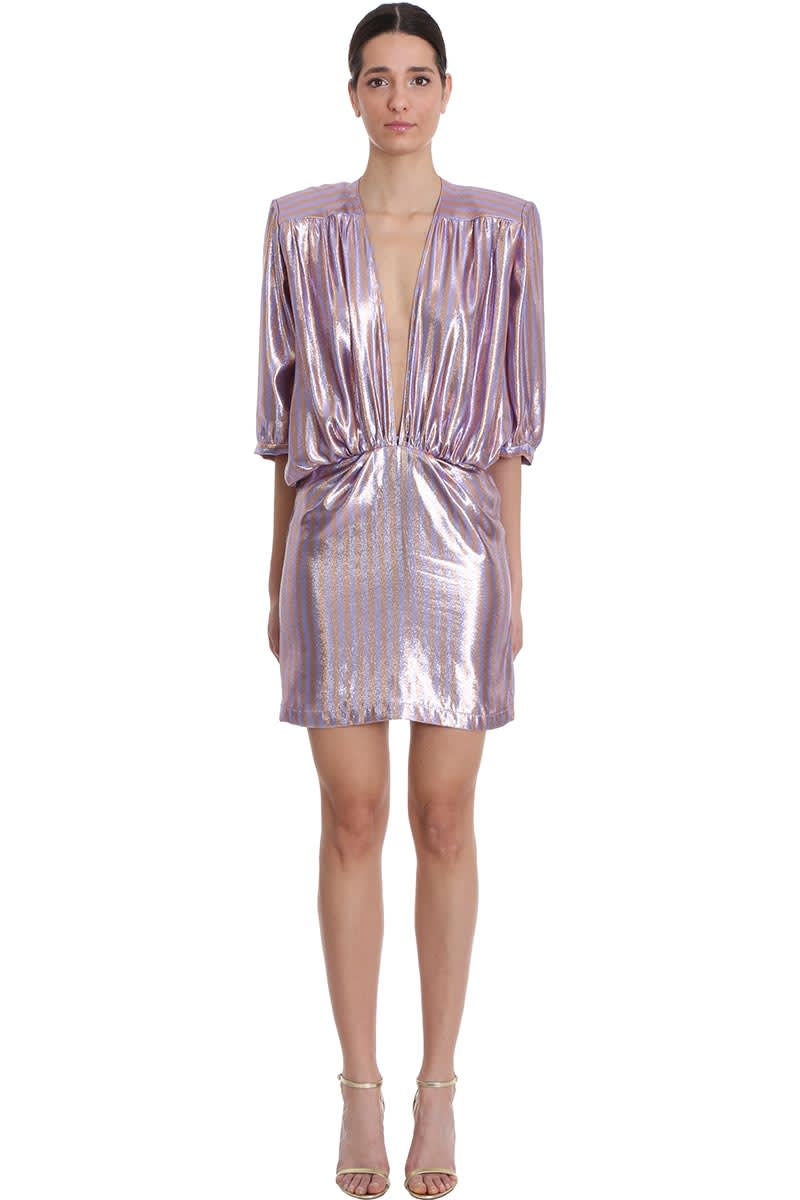 Buy Nervi Chloe Dress In Rose-pink Silk online, shop Nervi with free shipping