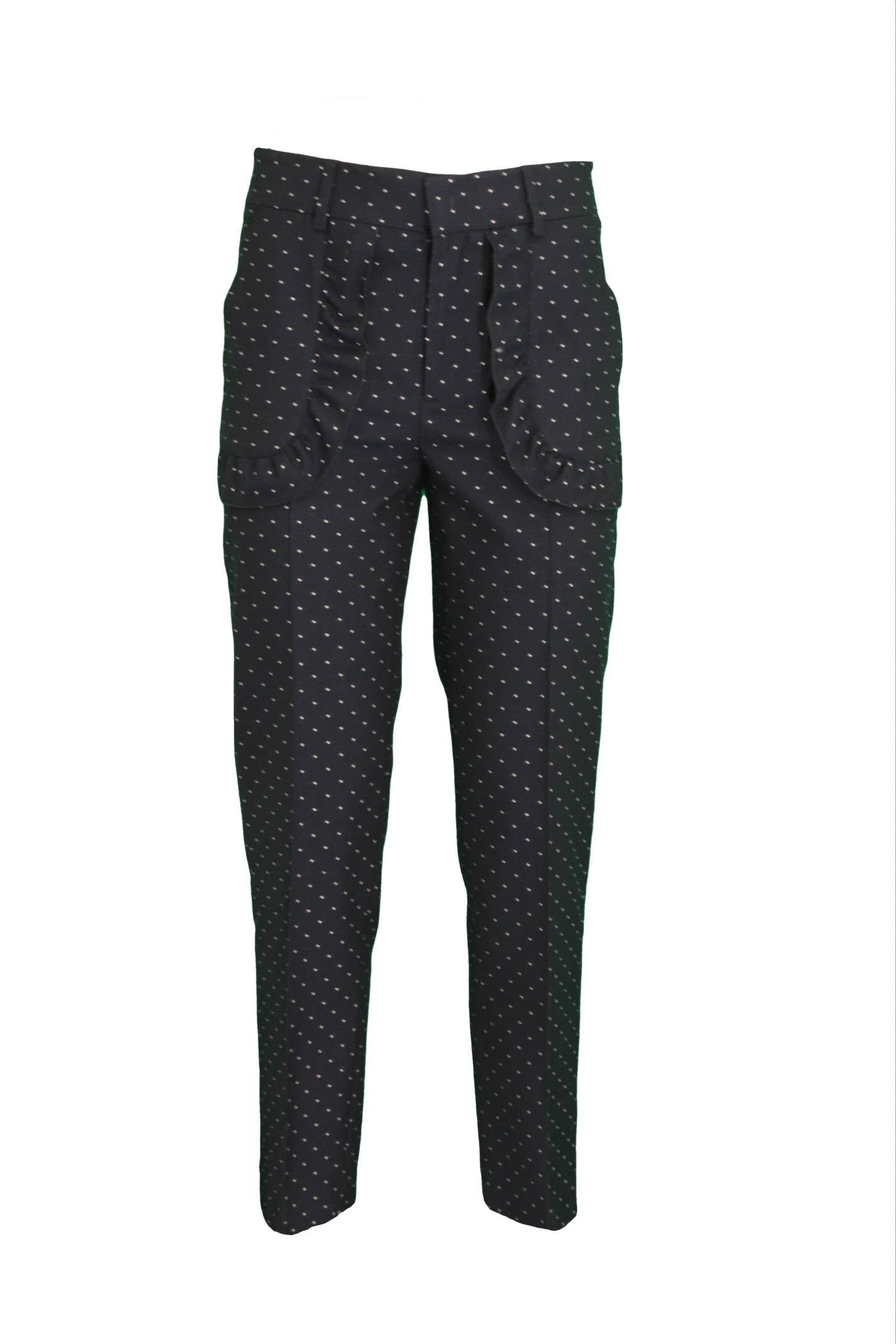 Red Valentino Straight pants COTTON-WOOL BLEND TROUSERS