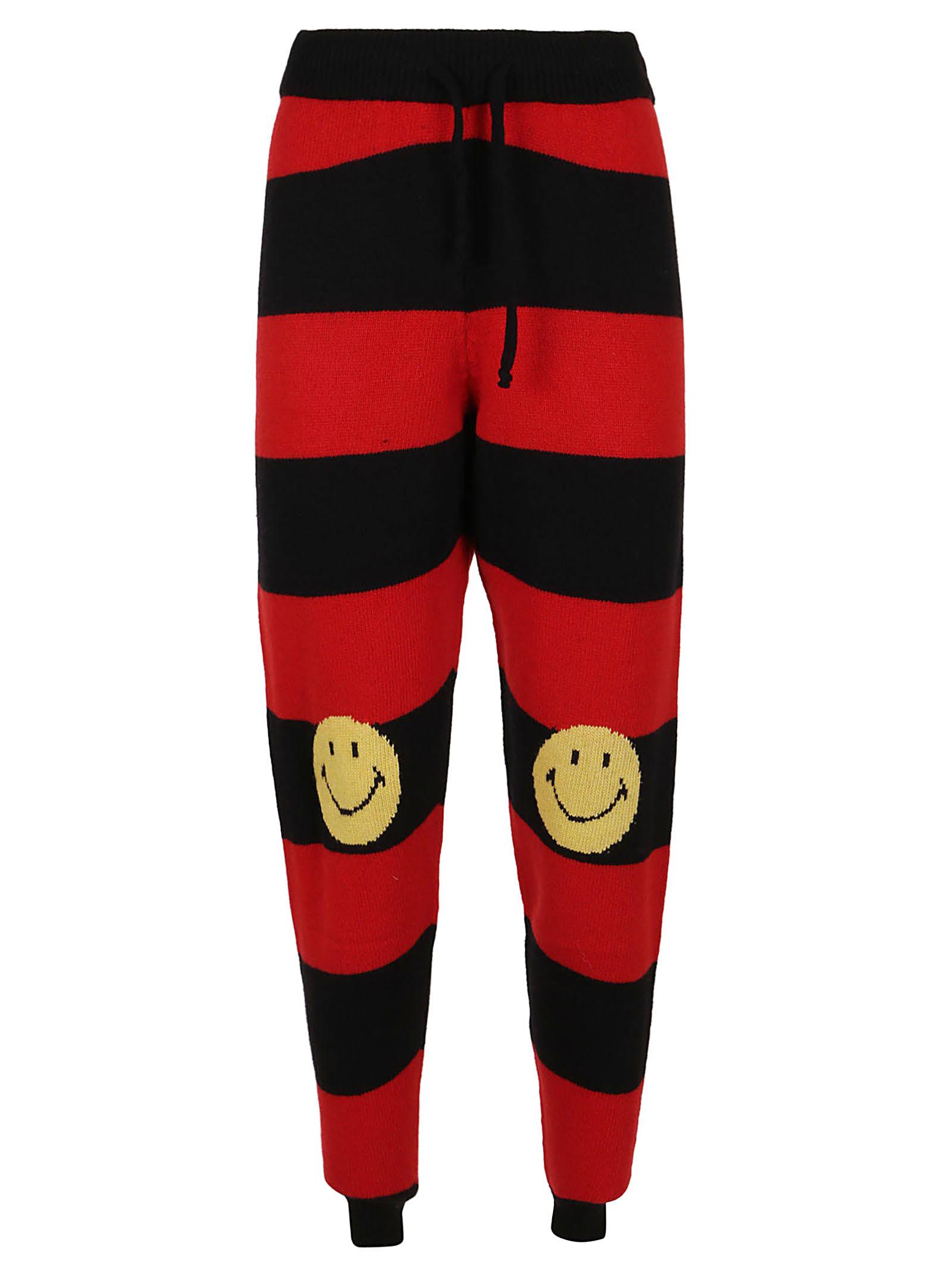 Striped Redblack Smiley Pants