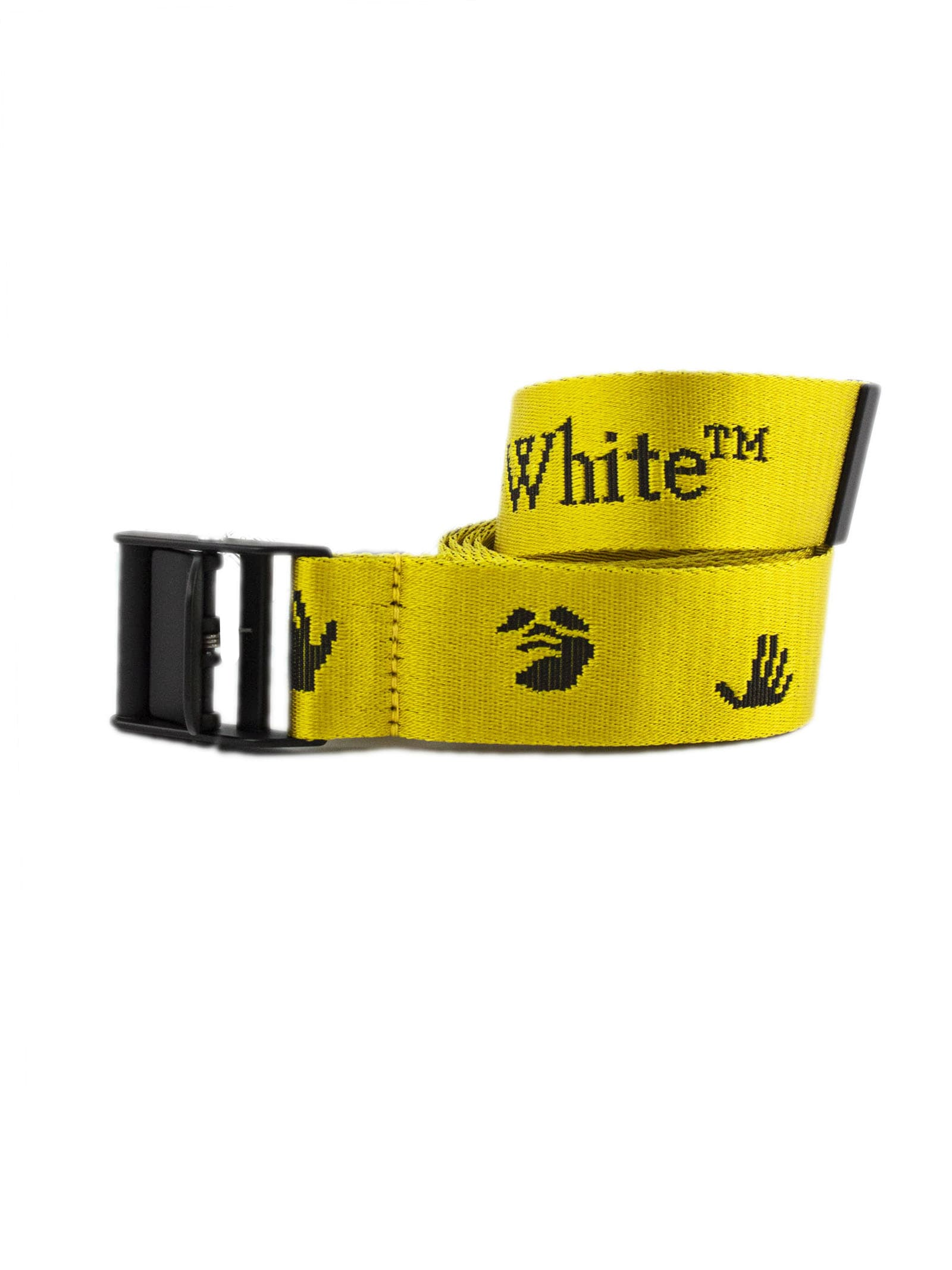Off-White Yellow Logo-print Belt