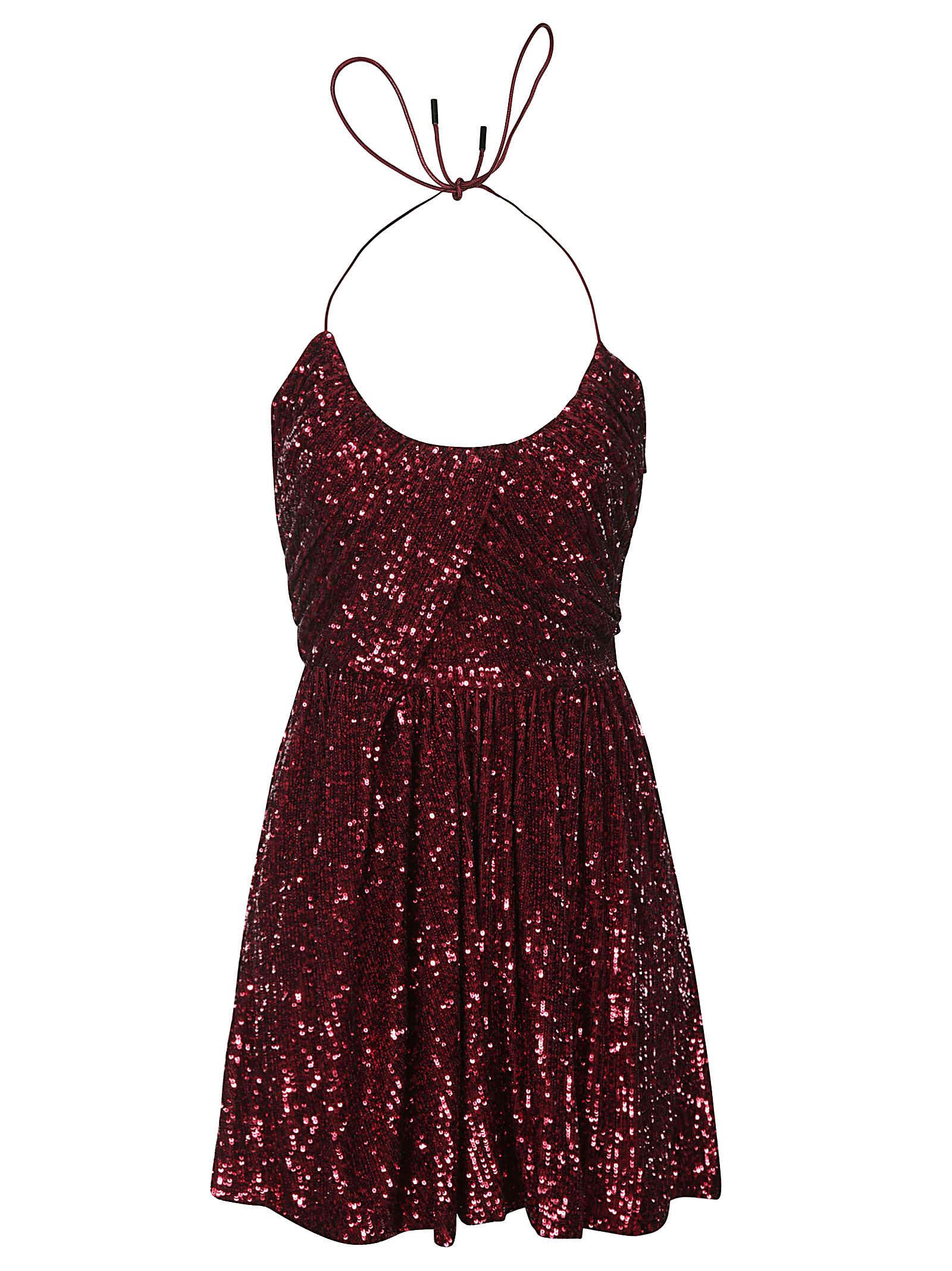 Saint Laurent Sequin-coated Sleeveless Short Dress