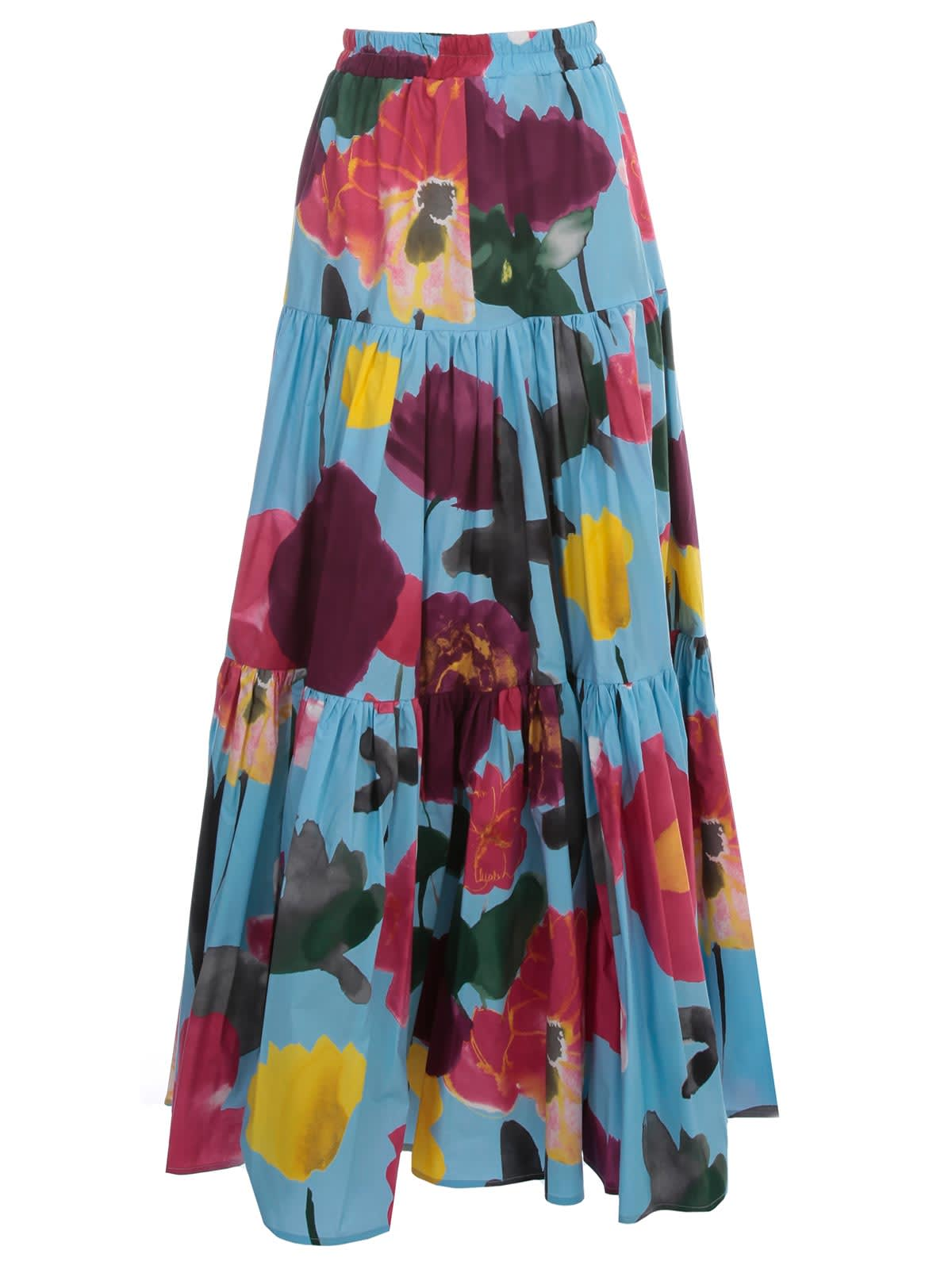 La DoubleJ Big Long Skirt A Line Flowers Fantasy W/flounce