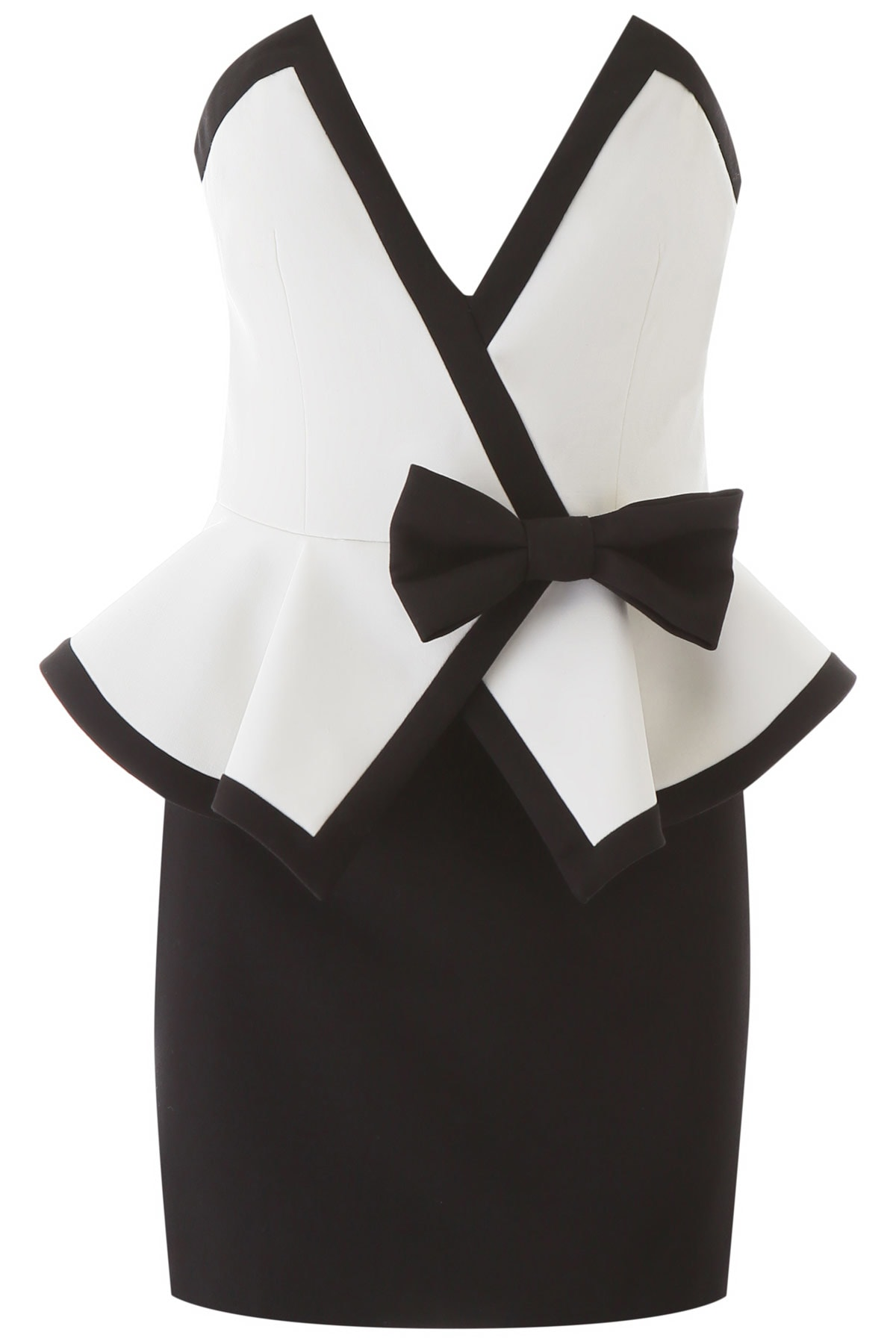 Buy Alessandra Rich Mini Dress With Bow online, shop Alessandra Rich with free shipping