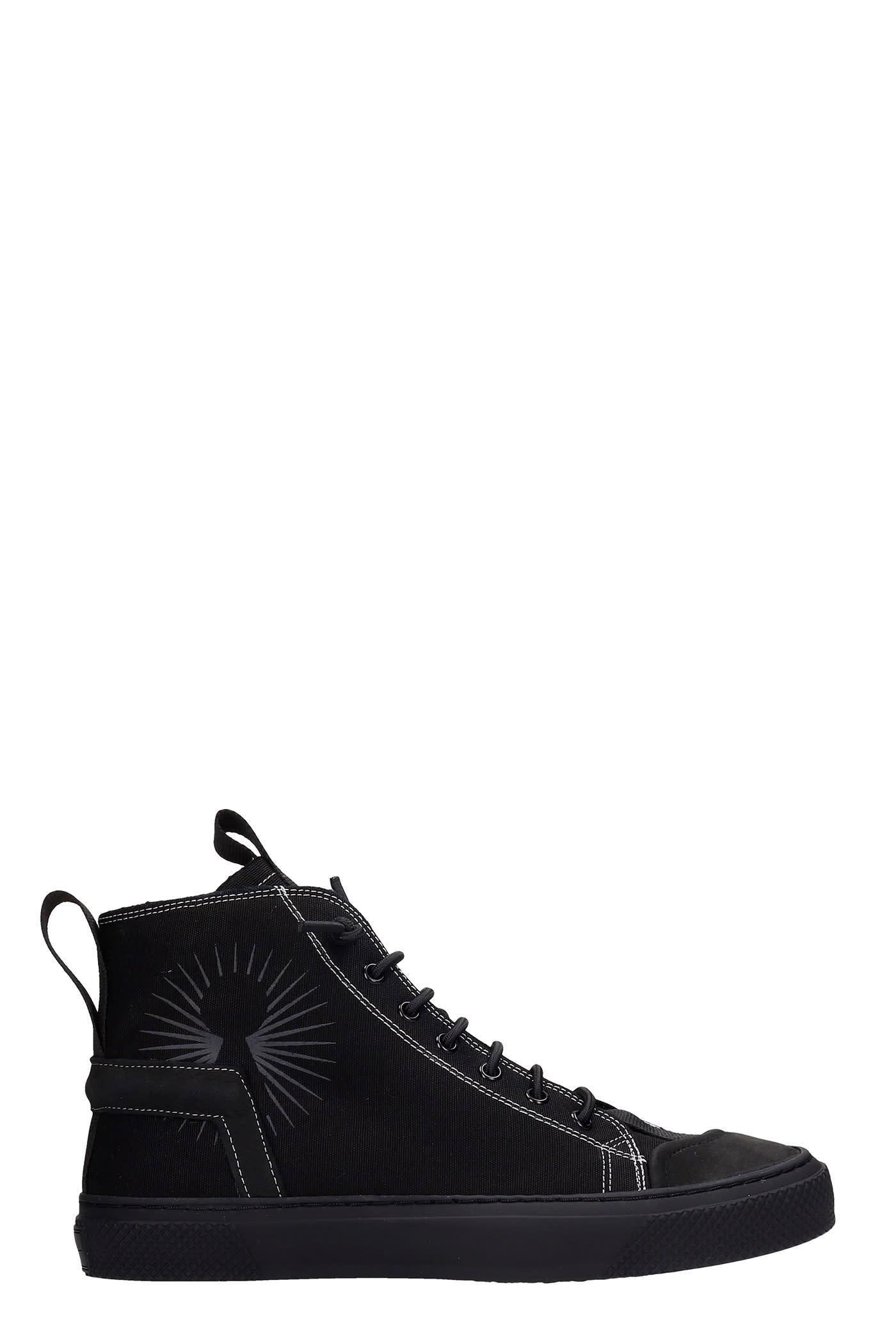 Polon Sneakers In Black Canvas