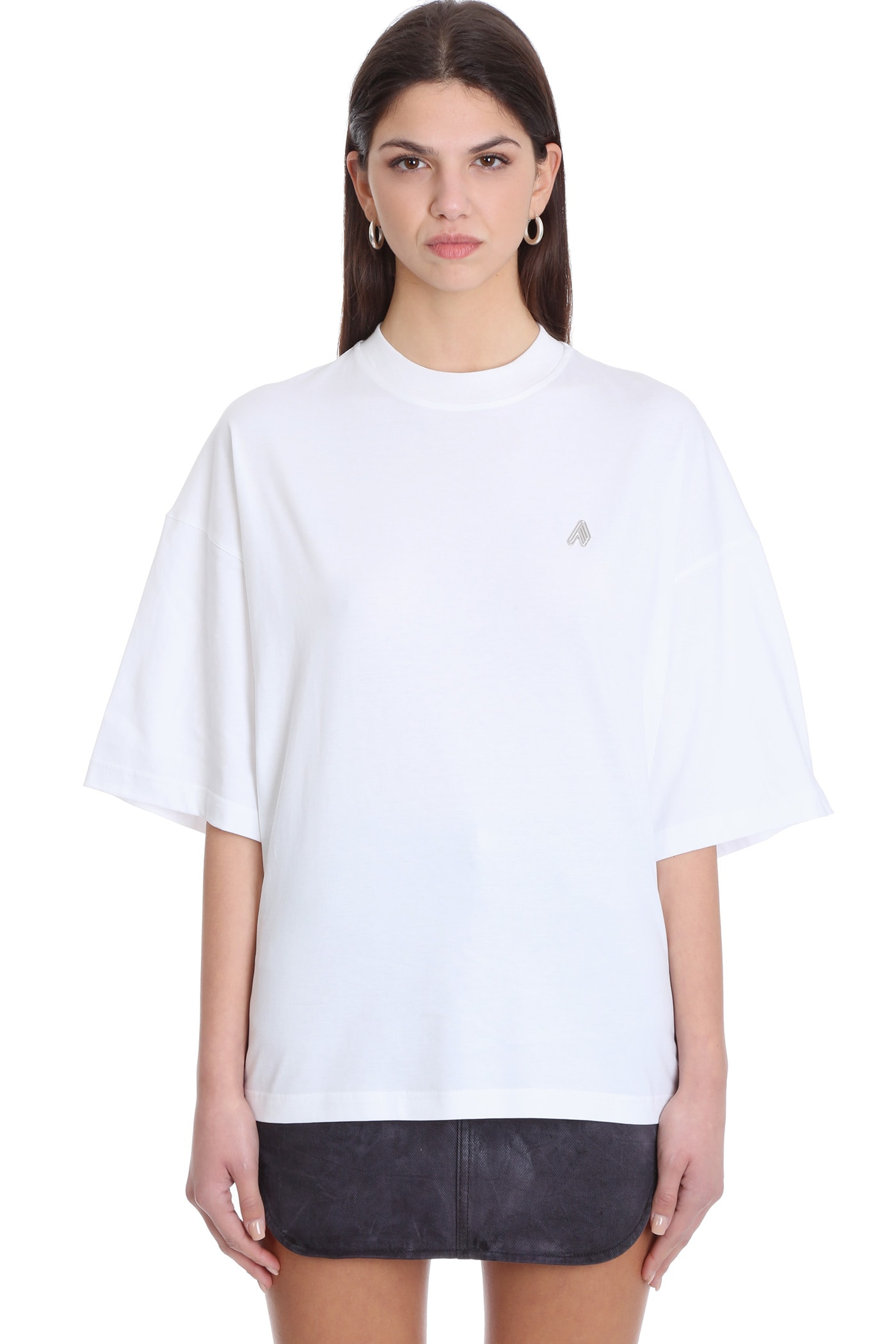 Attico CARA T-SHIRT IN WHITE COTTON