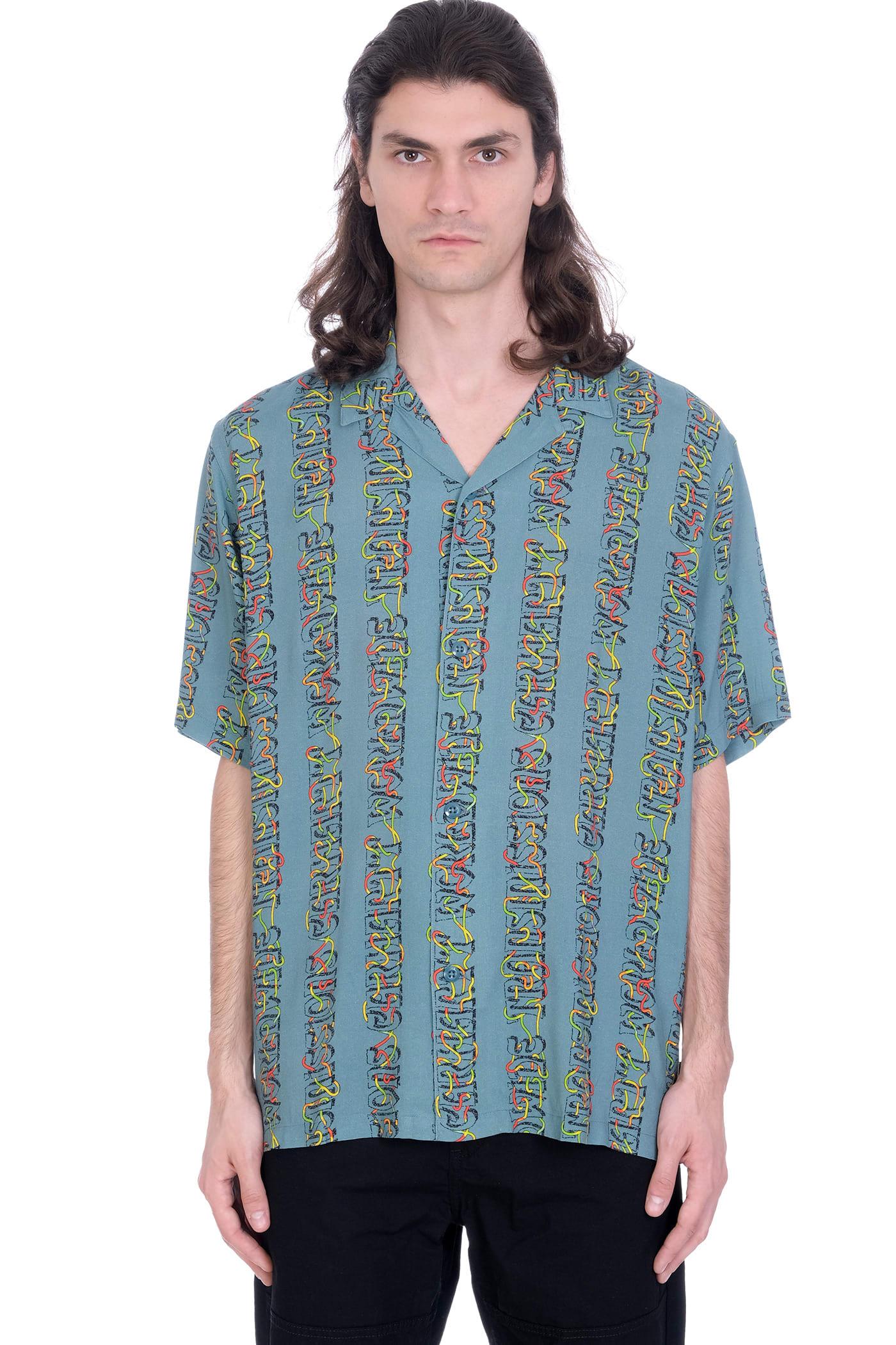 Shirt In Petroleum Cotton