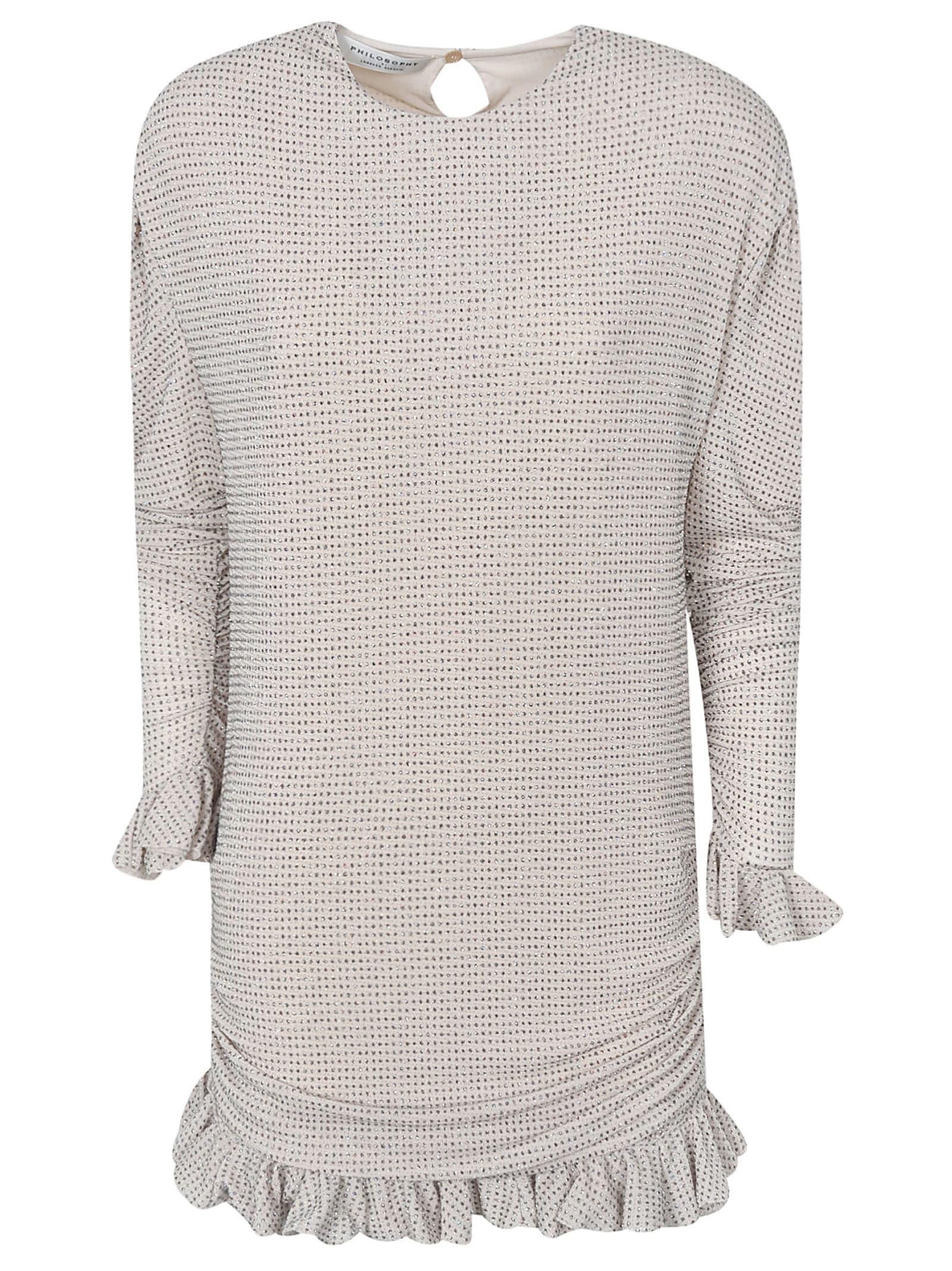 Buy Philosophy di Lorenzo Serafini Ruffled Hem Dress online, shop Philosophy di Lorenzo Serafini with free shipping