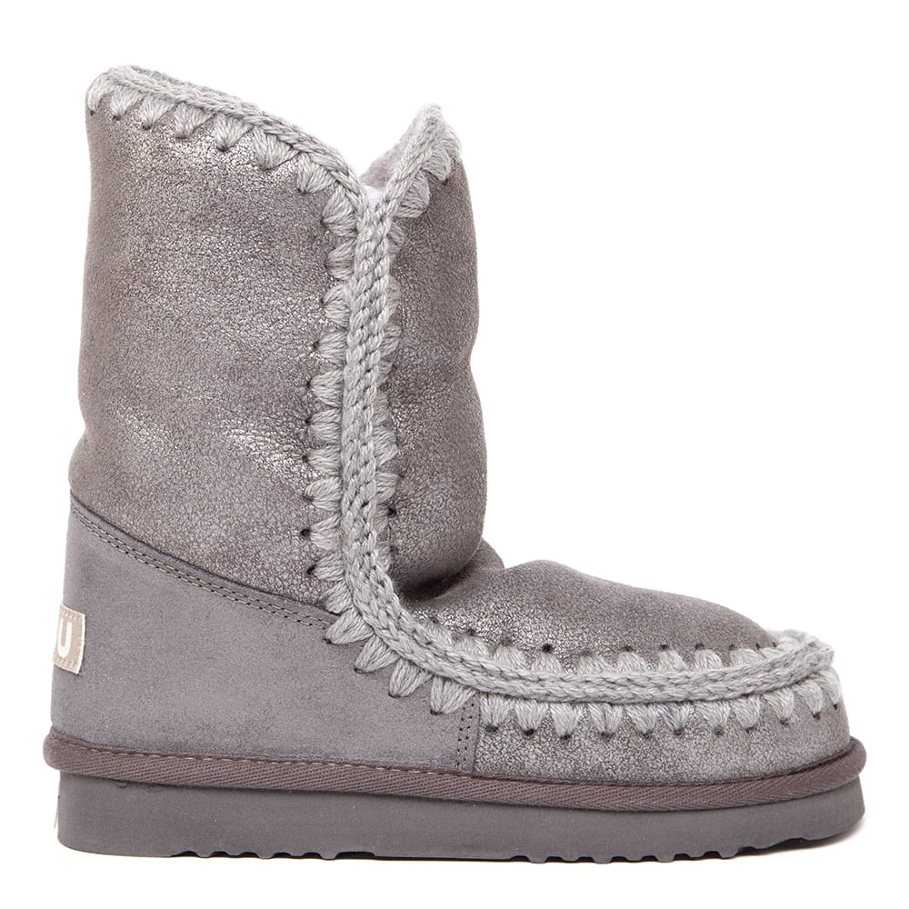 Mou Eskimo 24 Grey Leather Boots