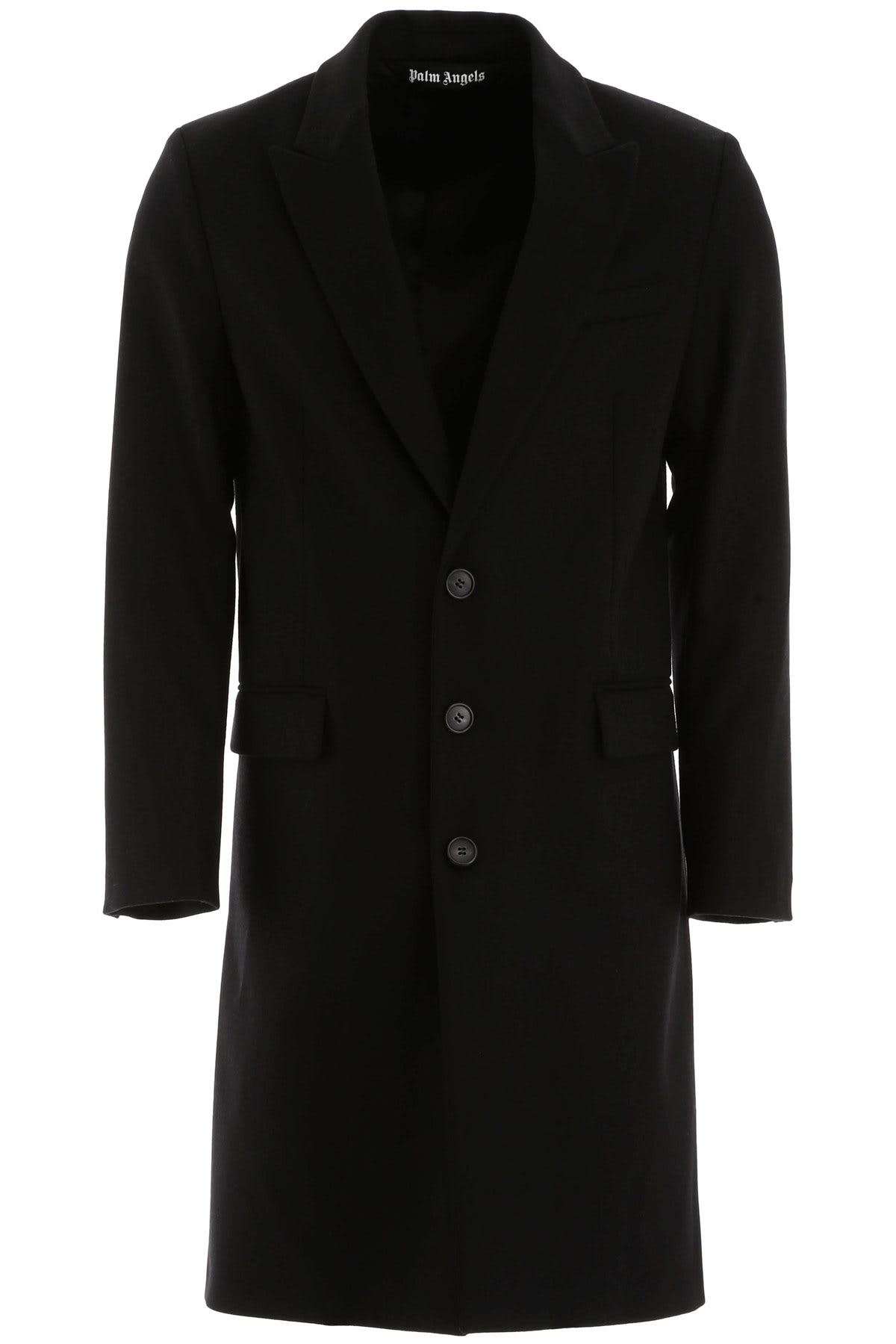 Palm Angels WOOL COAT WITH LOGO