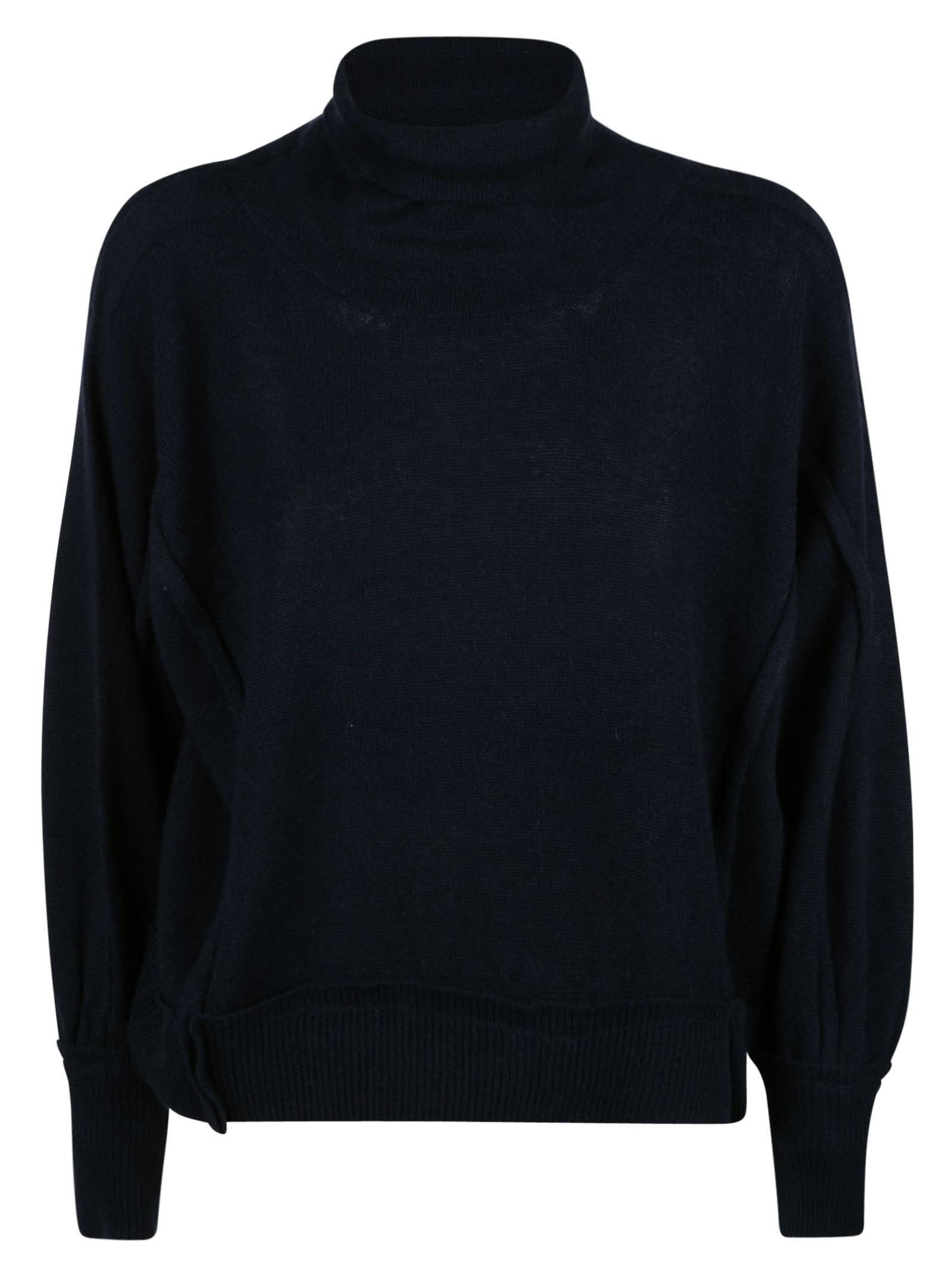 Loose Turtleneck Plain Sweater