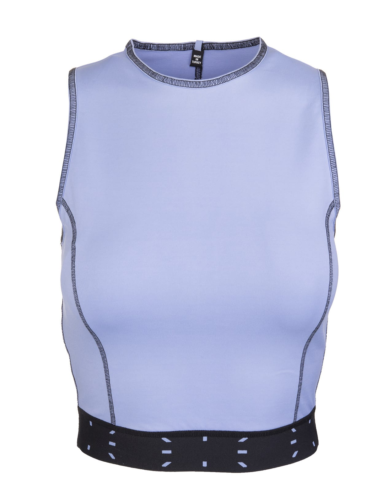 Lilac Sleeveless Sports Crop Top With Logo