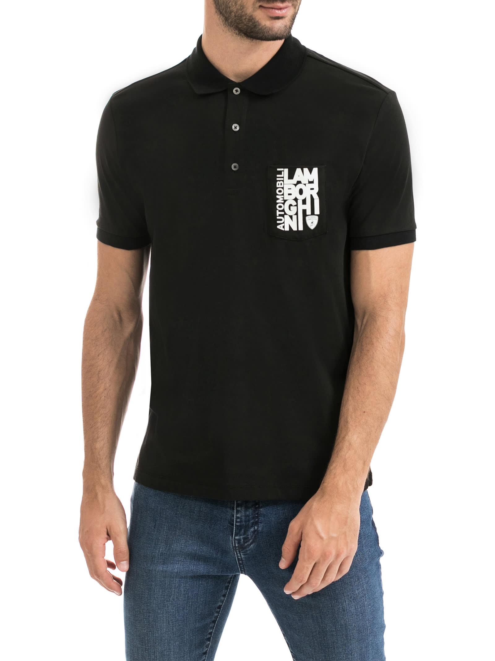 Destructured Logo Polo Shirt