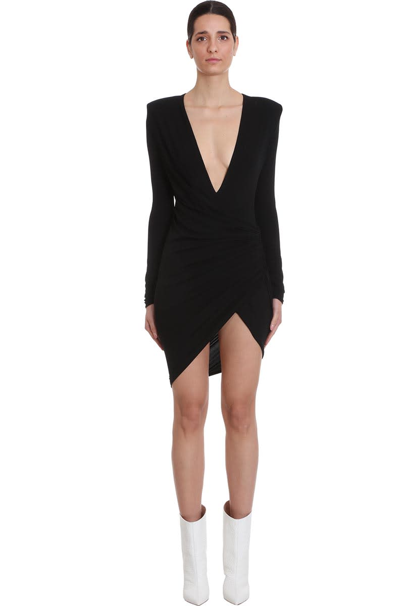 Buy Alexandre Vauthier Dress In Black Viscose online, shop Alexandre Vauthier with free shipping