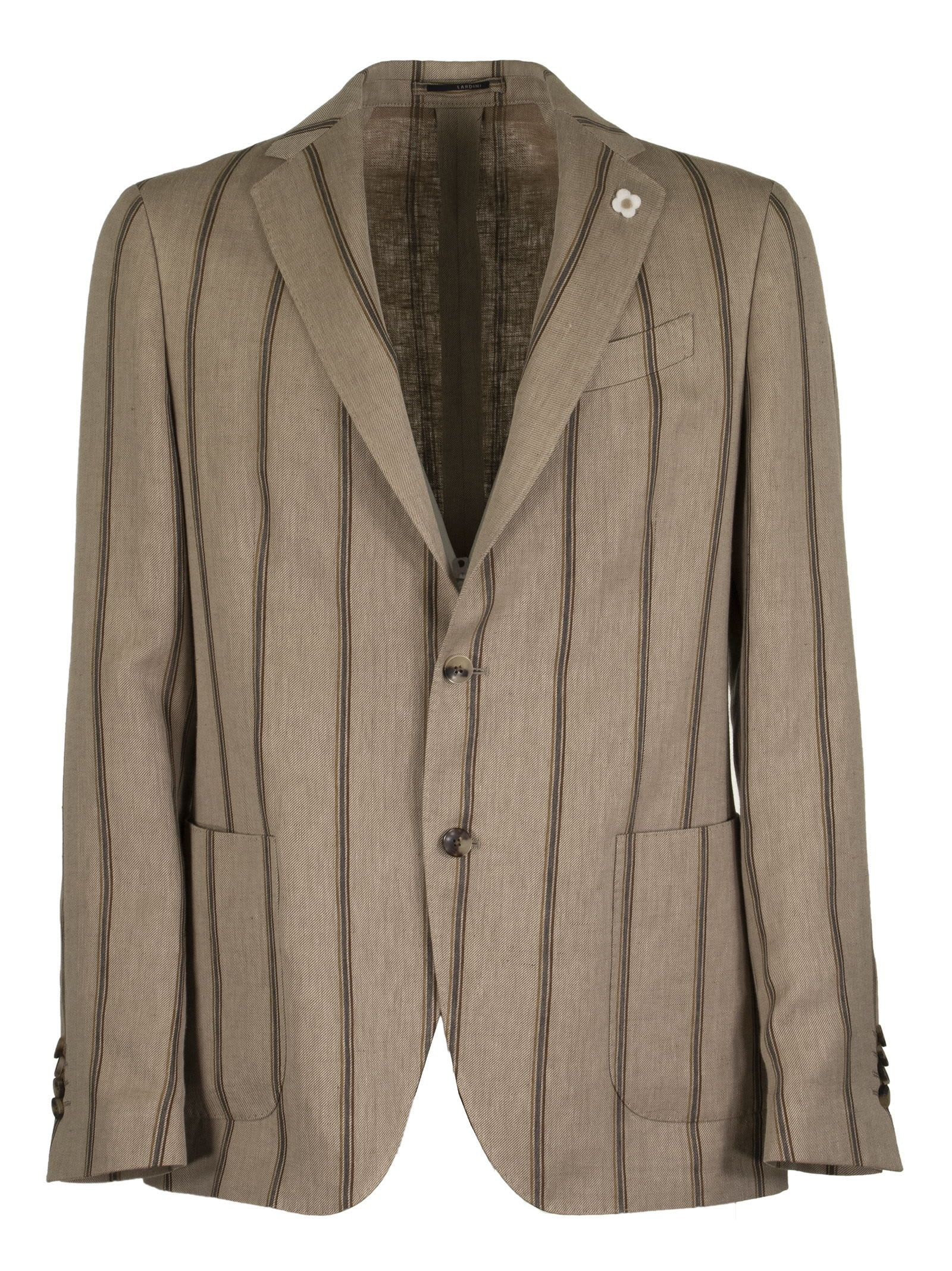 Lardini Pinstripe Pattern Two-button Single-breasted Jacket